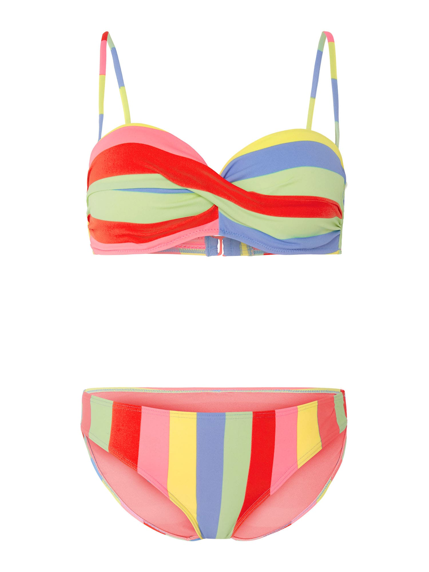 CHIEMSEE Bikinis žalia / raudona