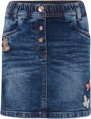 TOM TAILOR Jeansrock 'cute denim skirt with badges'