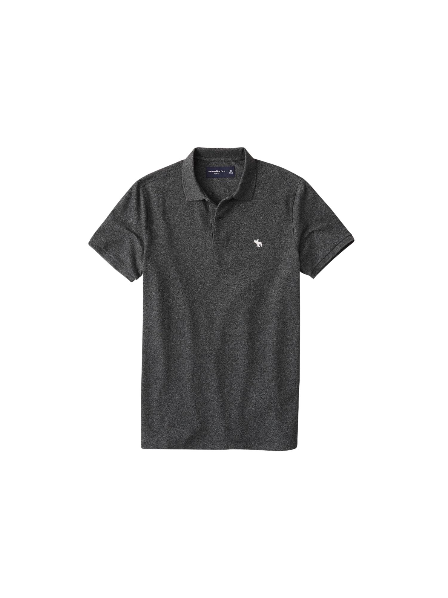 Abercrombie & Fitch Tričko  bílá / černý melír