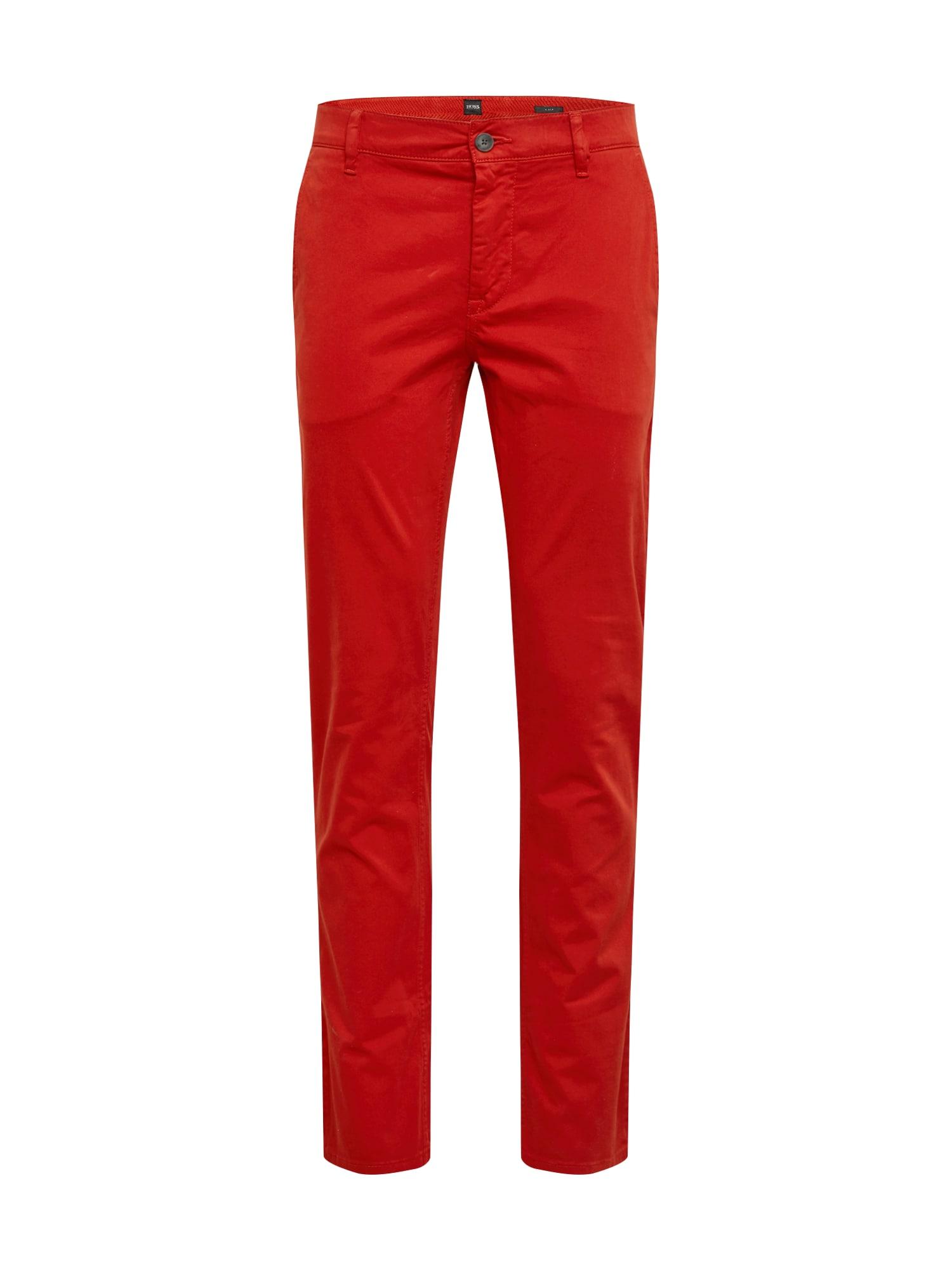 BOSS Chino stiliaus kelnės 'Schino' raudona