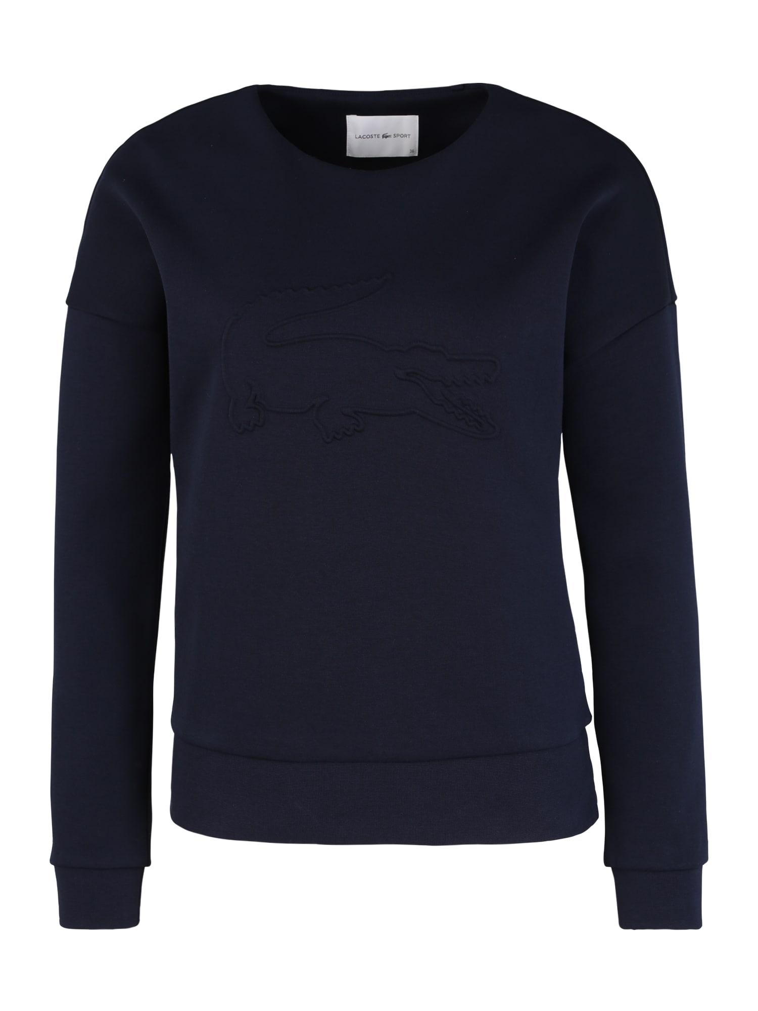 Lacoste Sport Sportinio tipo megztinis tamsiai mėlyna jūros spalva
