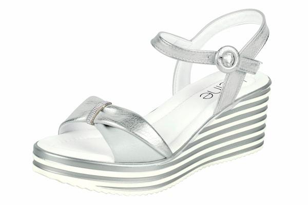 Sandalen für Frauen - Heine Keilsandalette mit Plateau Sohle silber weiß  - Onlineshop ABOUT YOU