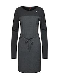 Ragwear Damen Kleid NUGGIE DRESS grau,schwarz | 04251490118843
