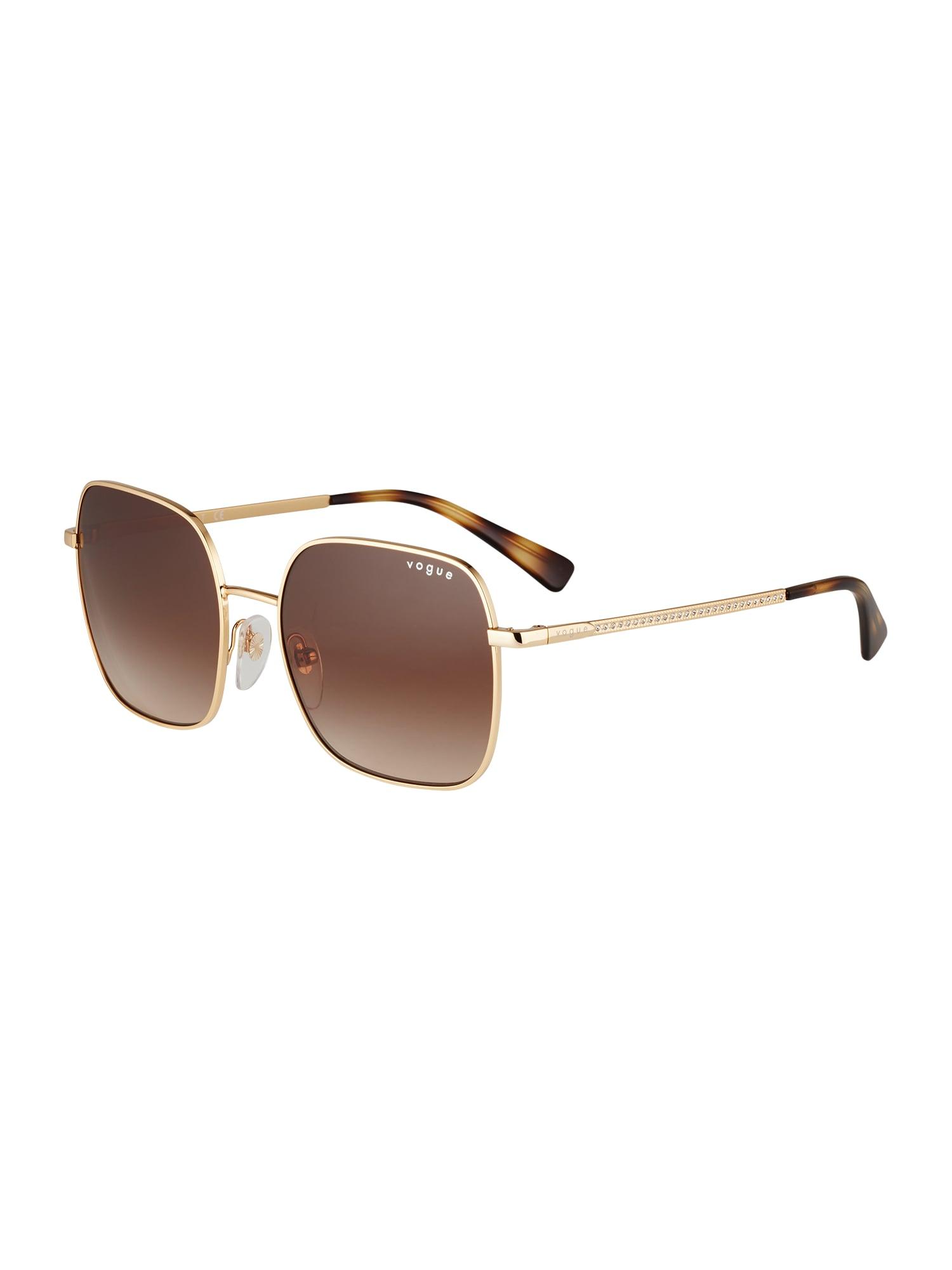 VOGUE Eyewear Slnečné okuliare  zlatá / hnedé / tmavohnedá