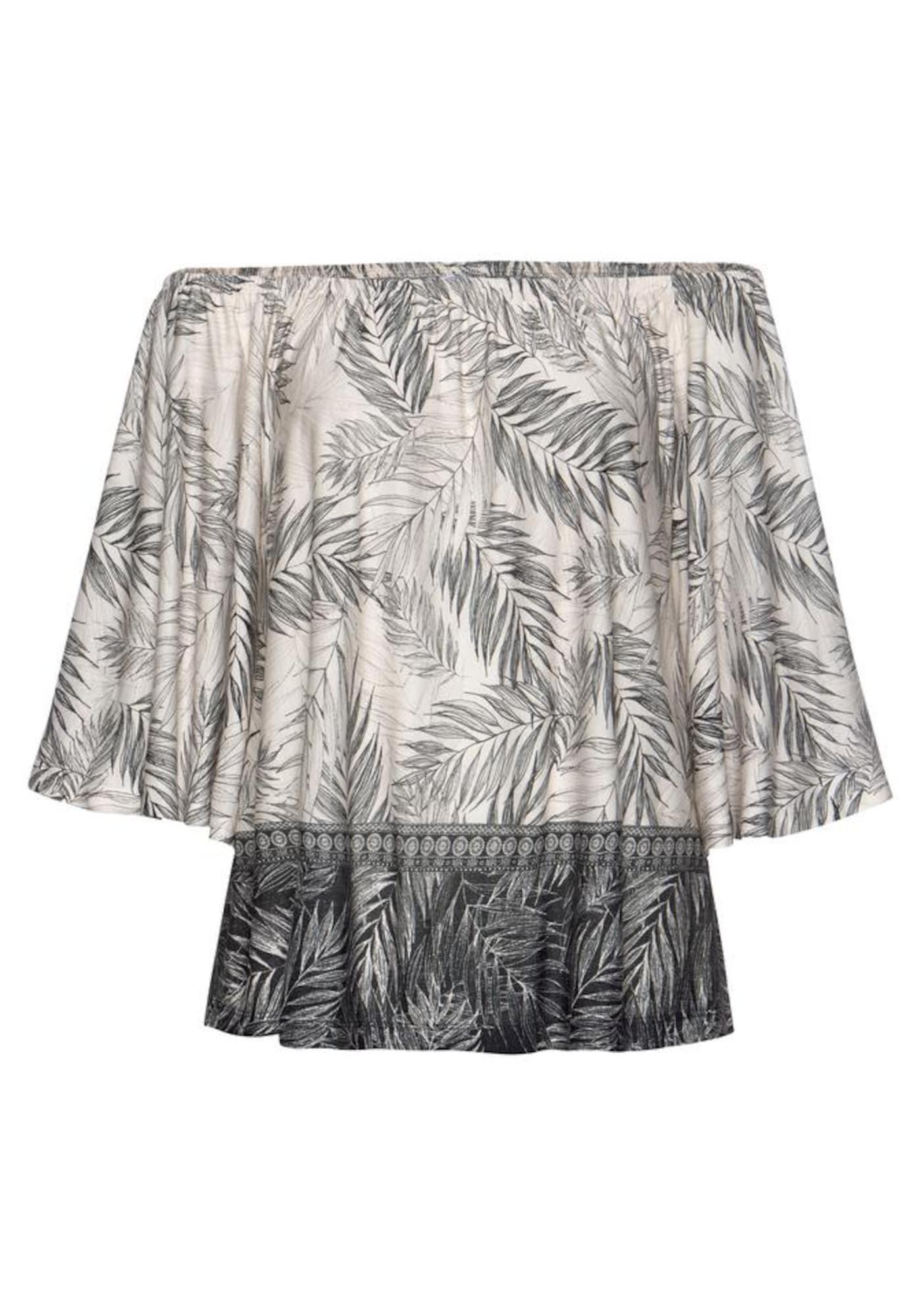 BUFFALO Marškinėliai kremo / tamsiai pilka