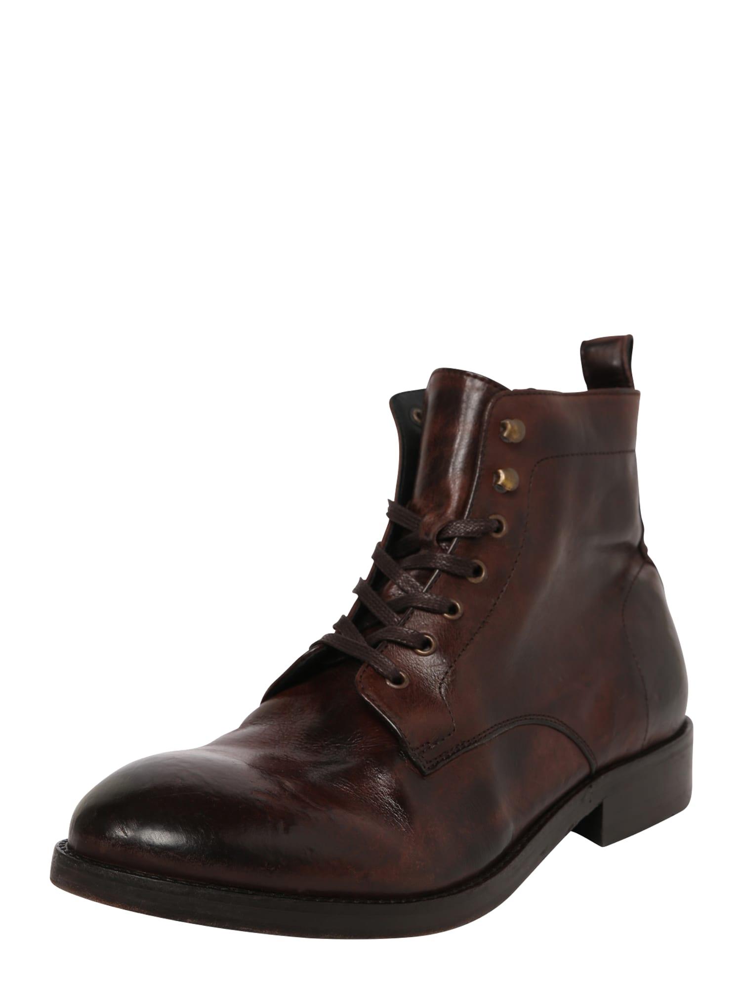 Hudson London Auliniai batai su raišteliais tamsiai ruda