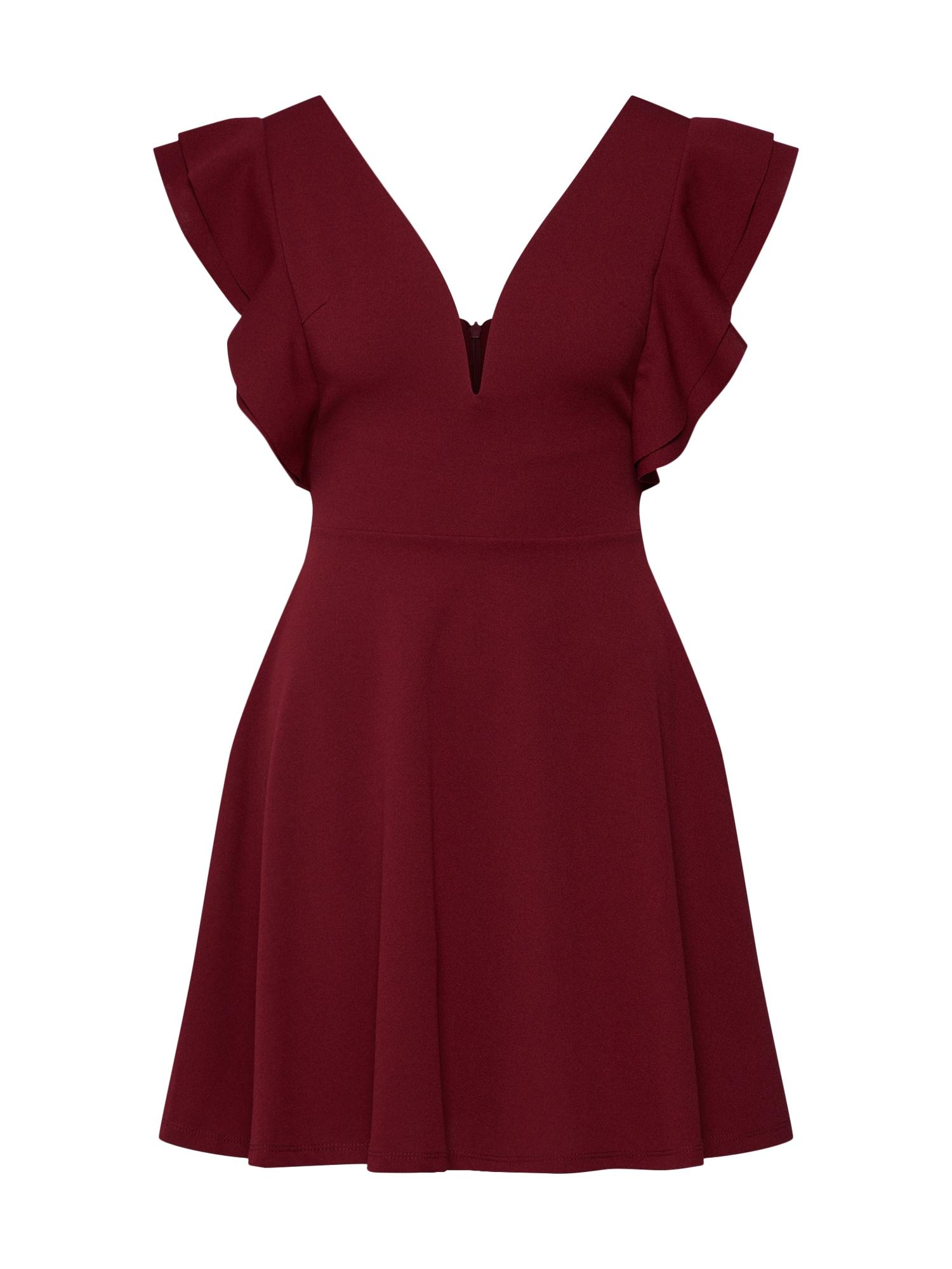 WAL G. Suknelė vyno raudona spalva