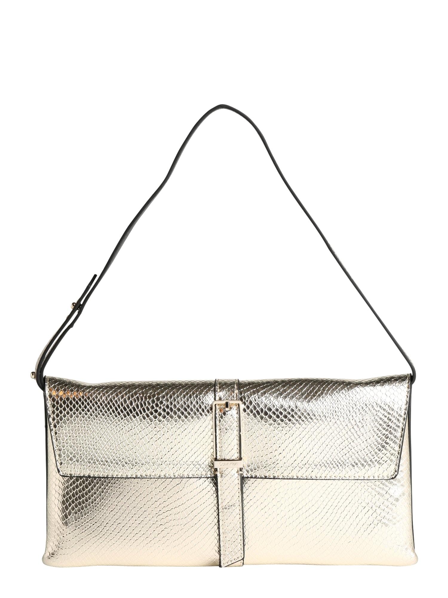 Calvin Klein Rankinė ant peties 'WINGED SHOULDER BAG' šampano / auksas