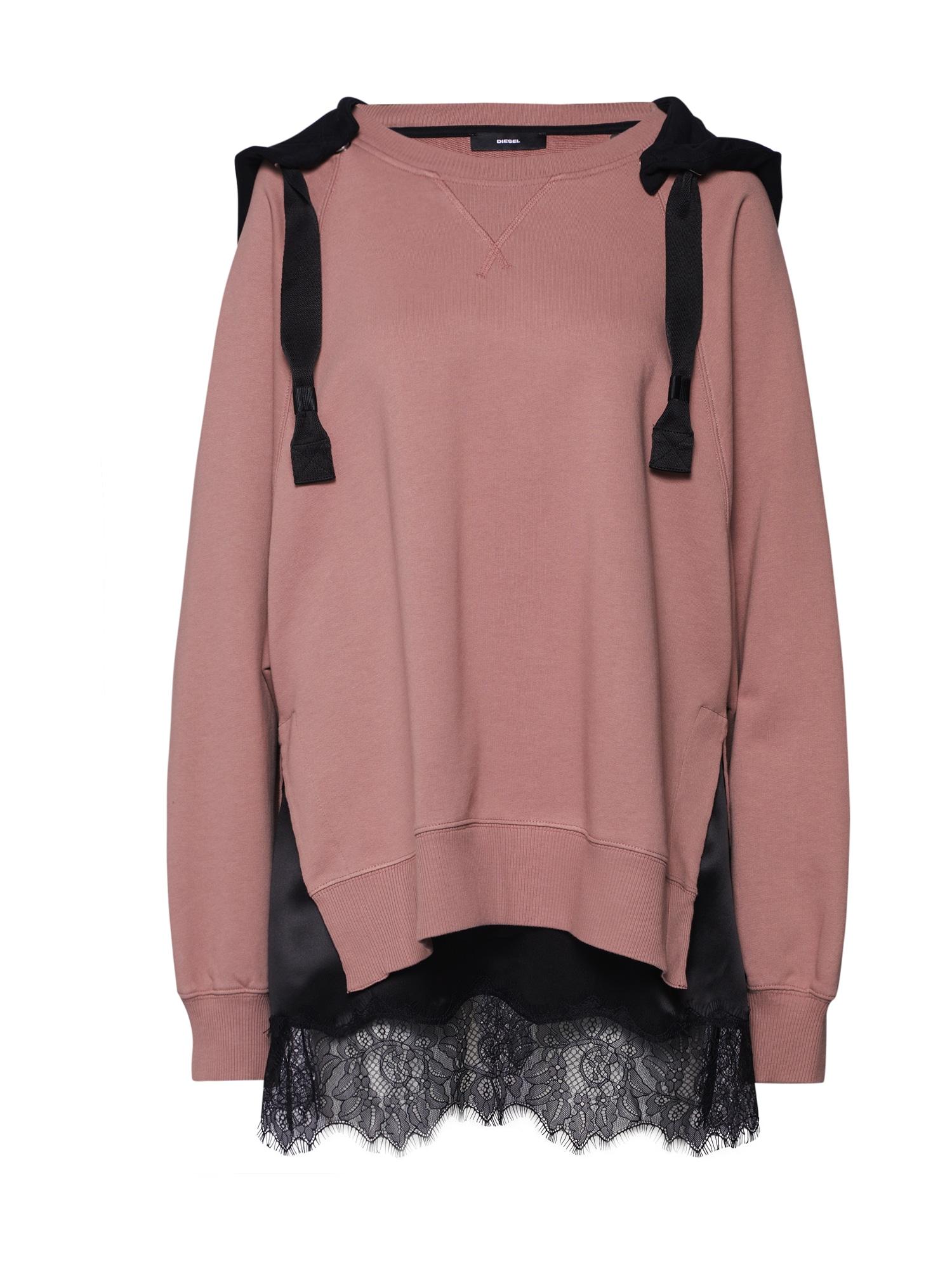 Mikina F-CAROLINE růžová černá DIESEL