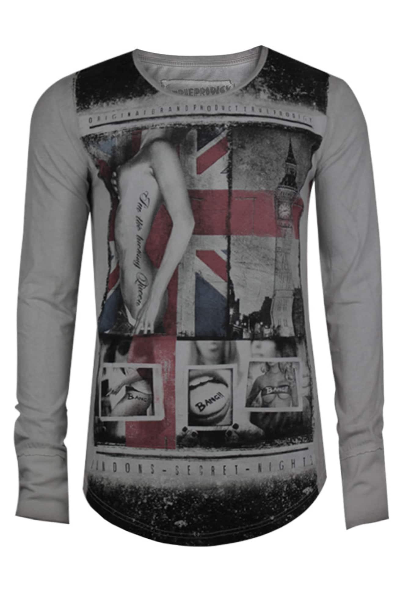 trueprodigy Herren Shirt London Secrets grau,rot,schwarz | 04057124032260