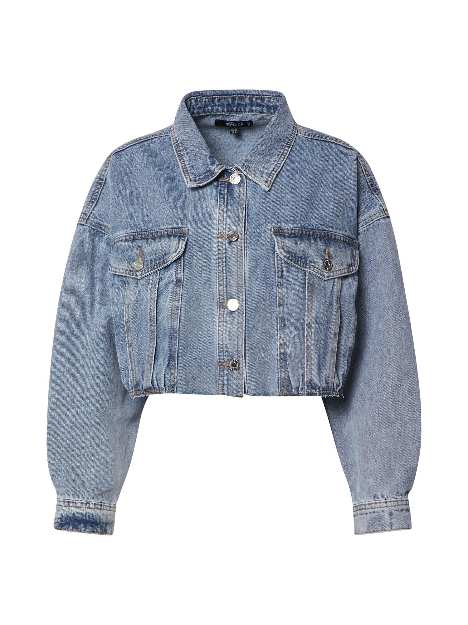Missguided Demisezoninė striukė 'Jacket' mėlyna