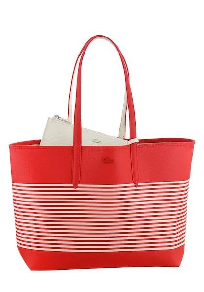 Shopper für Frauen - Shopper 'Anna Fantasie' › Lacoste › hellrot weiß  - Onlineshop ABOUT YOU
