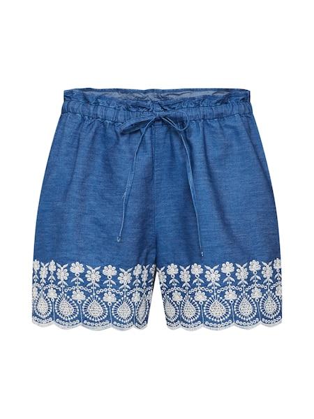 Hosen für Frauen - EDC BY ESPRIT Shorts 'Embro Short' blue denim dunkelblau  - Onlineshop ABOUT YOU