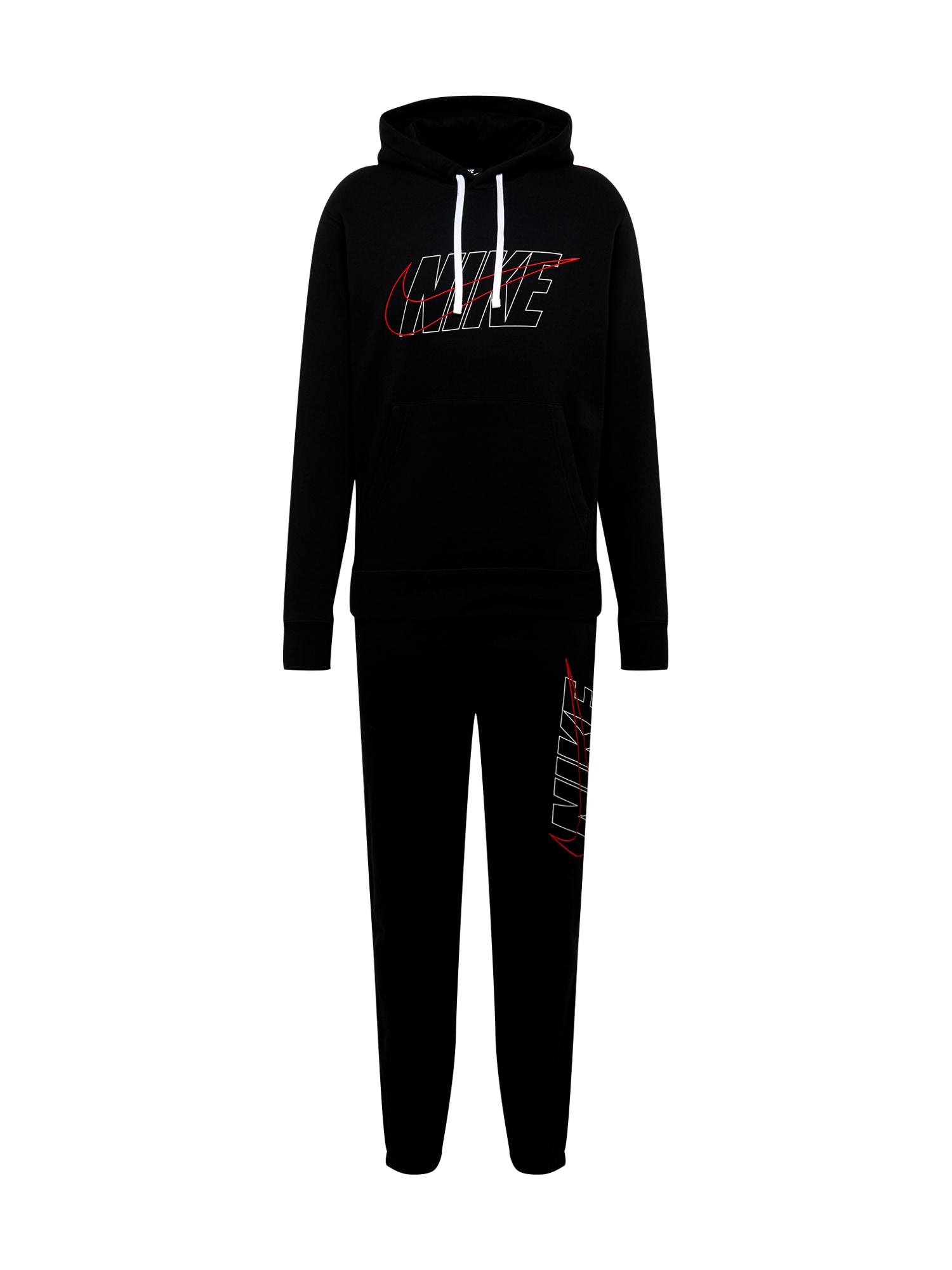 Nike Sportswear Treningas raudona / juoda / balta
