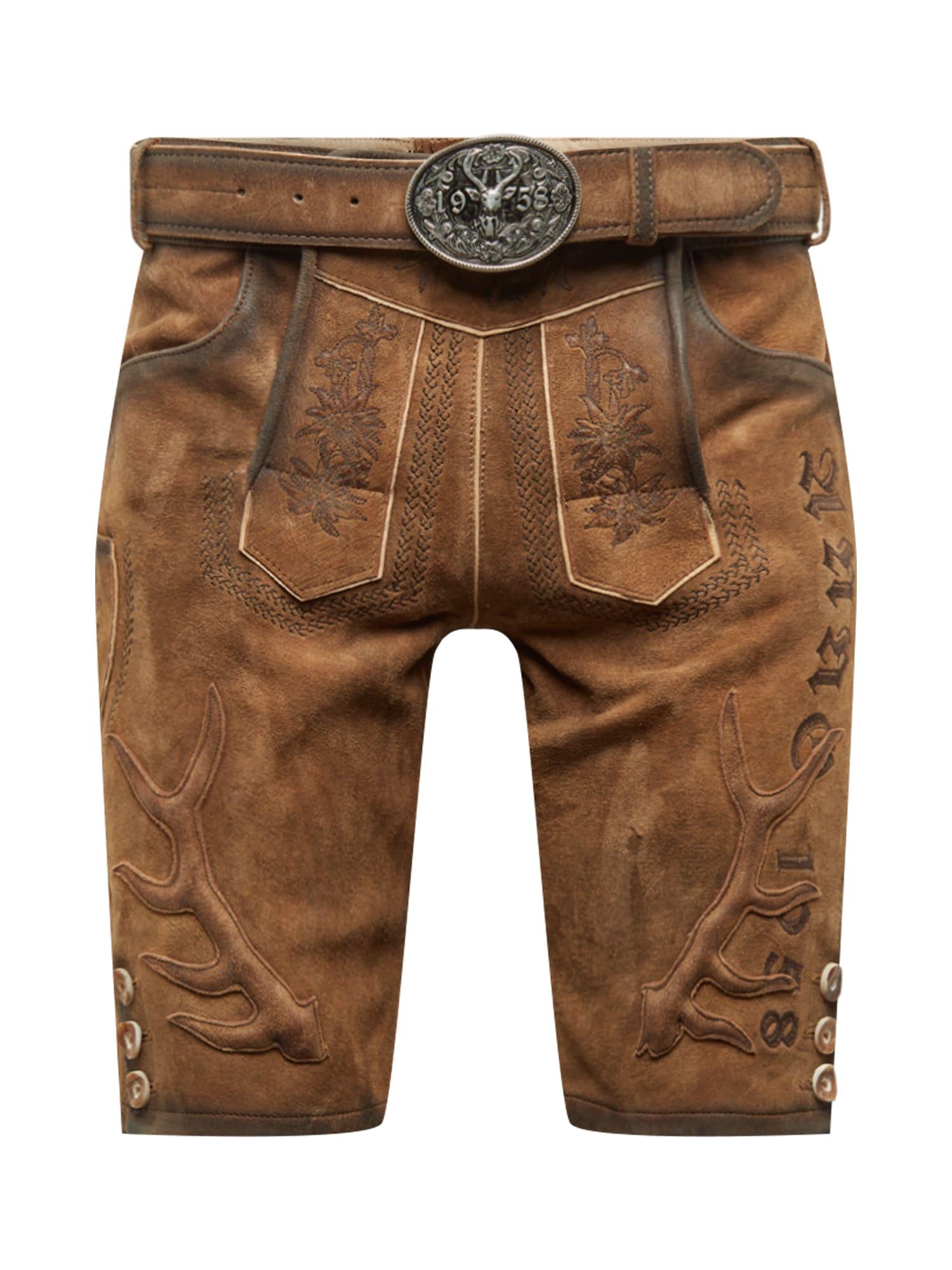 Krojové kalhoty hnědá Krüger Buam