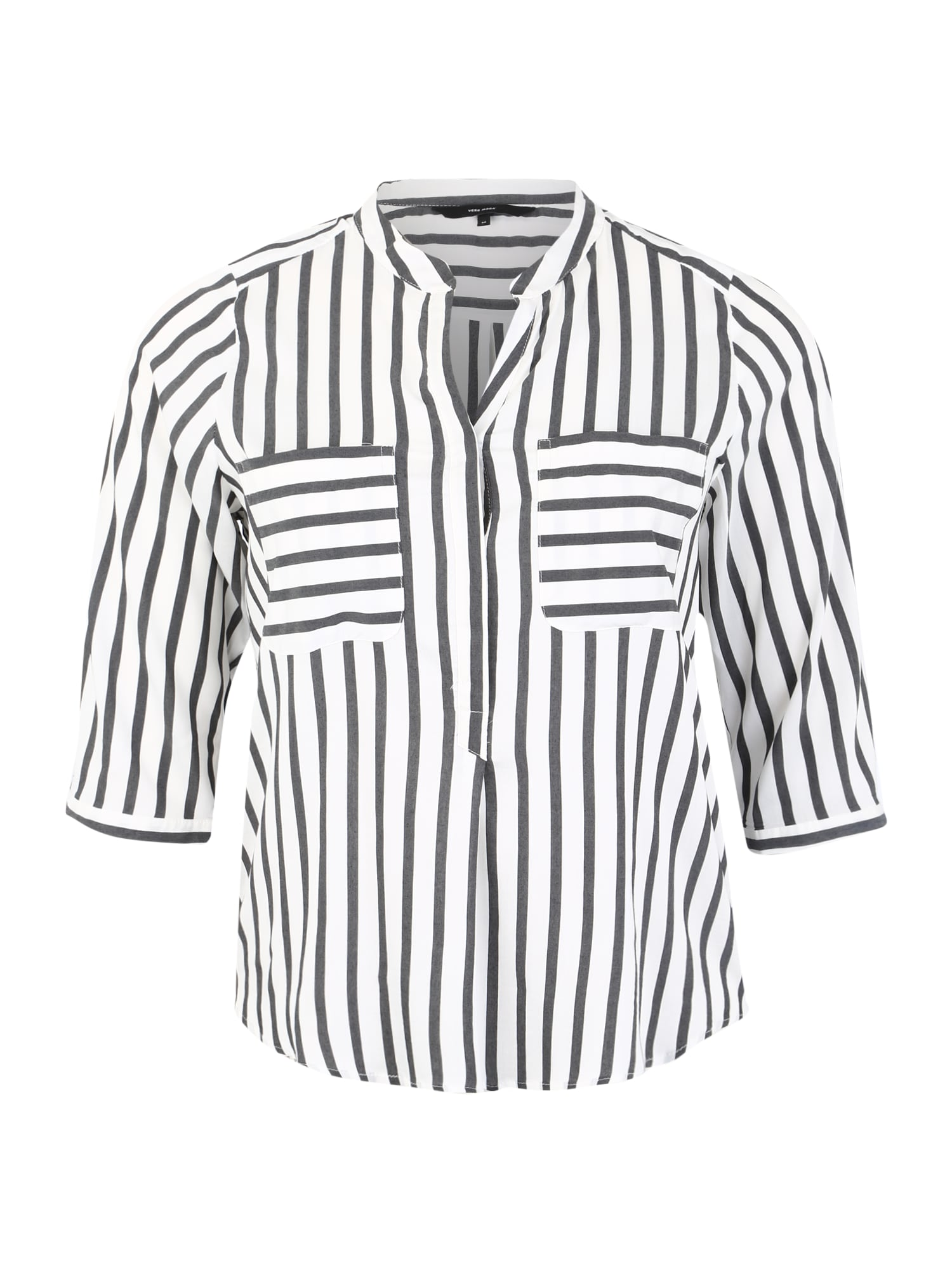 Vero Moda Curve Palaidinė 'ERIKA' juoda / balta