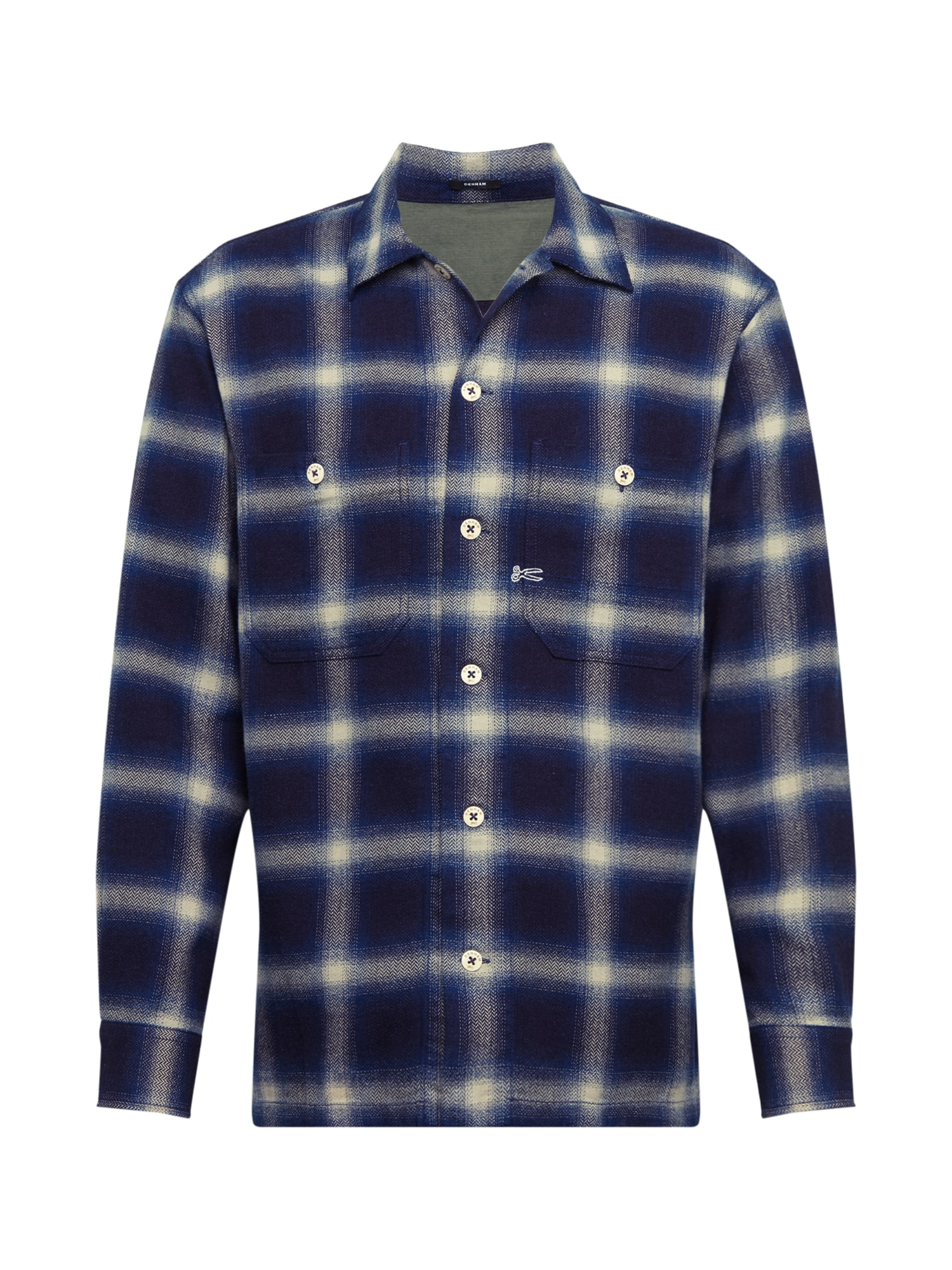 DENHAM Dalykiniai marškiniai 'CANNON' mėlyna