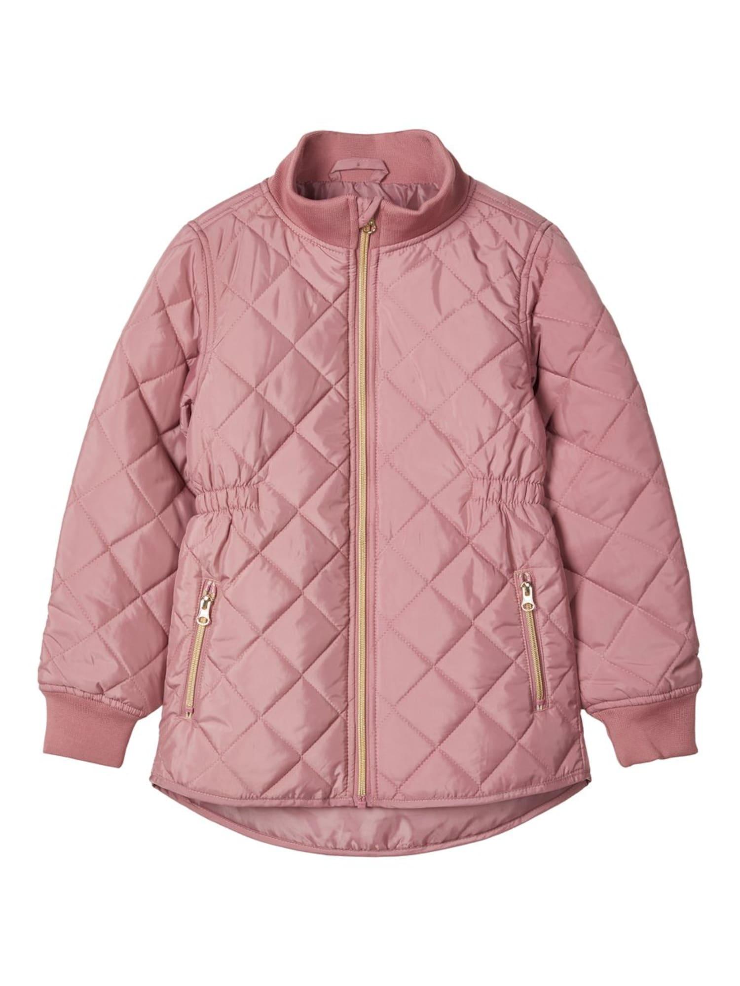 NAME IT Demisezoninė striukė ryškiai rožinė spalva