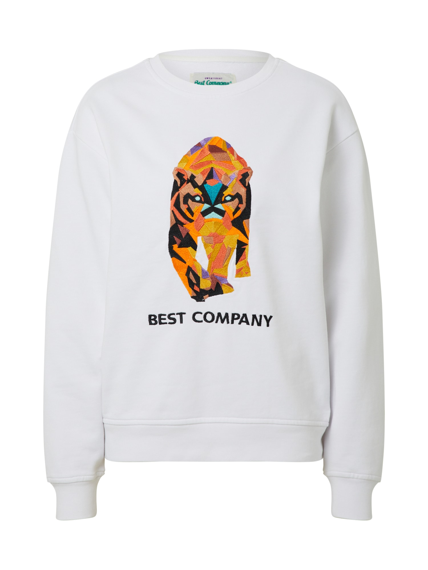 Best Company Megztinis be užsegimo 'CREW NECK OVER TIGER' balta