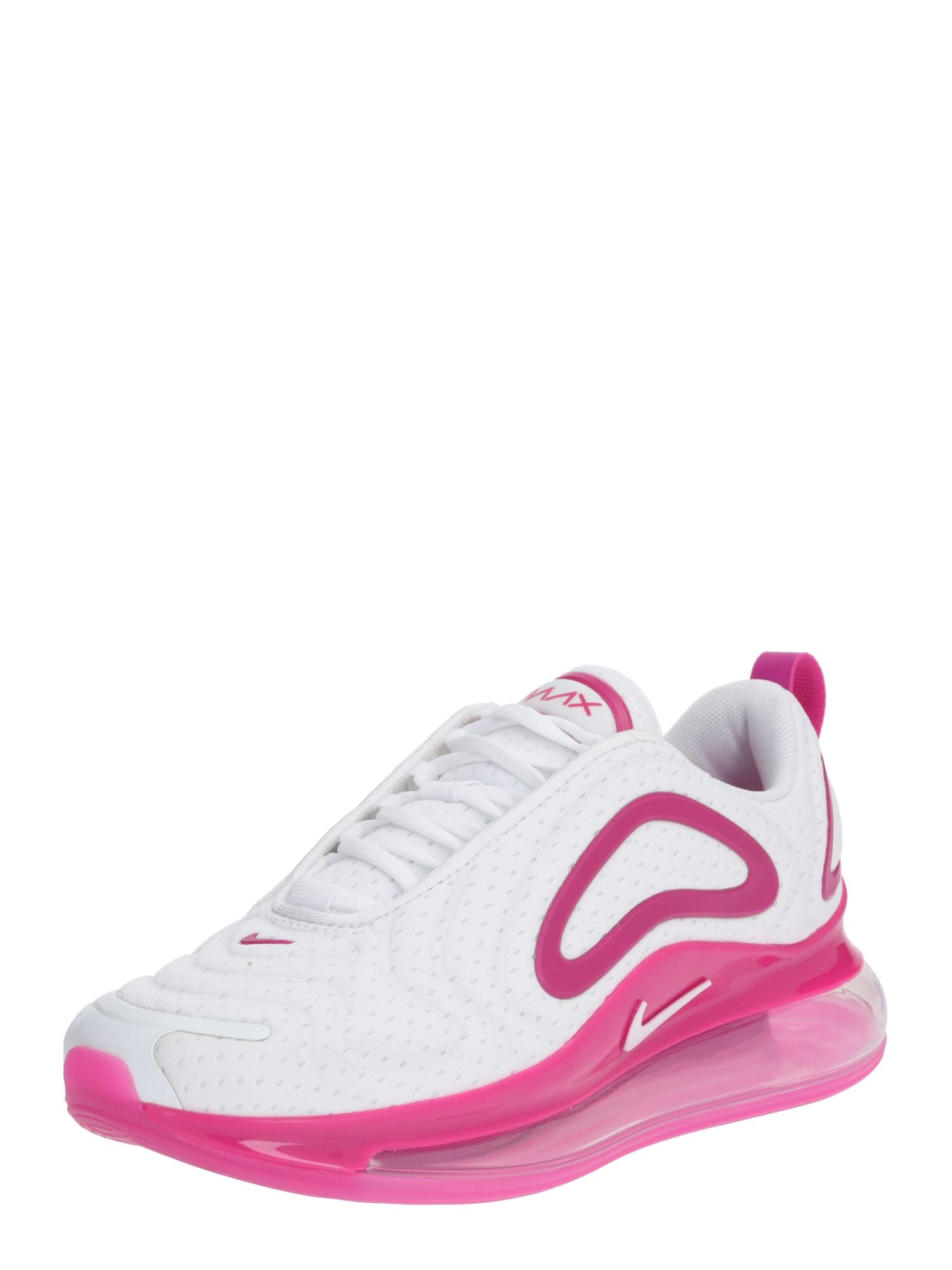 NIKE Sportiniai batai 'Air Max 720' tamsiai rožinė / balta