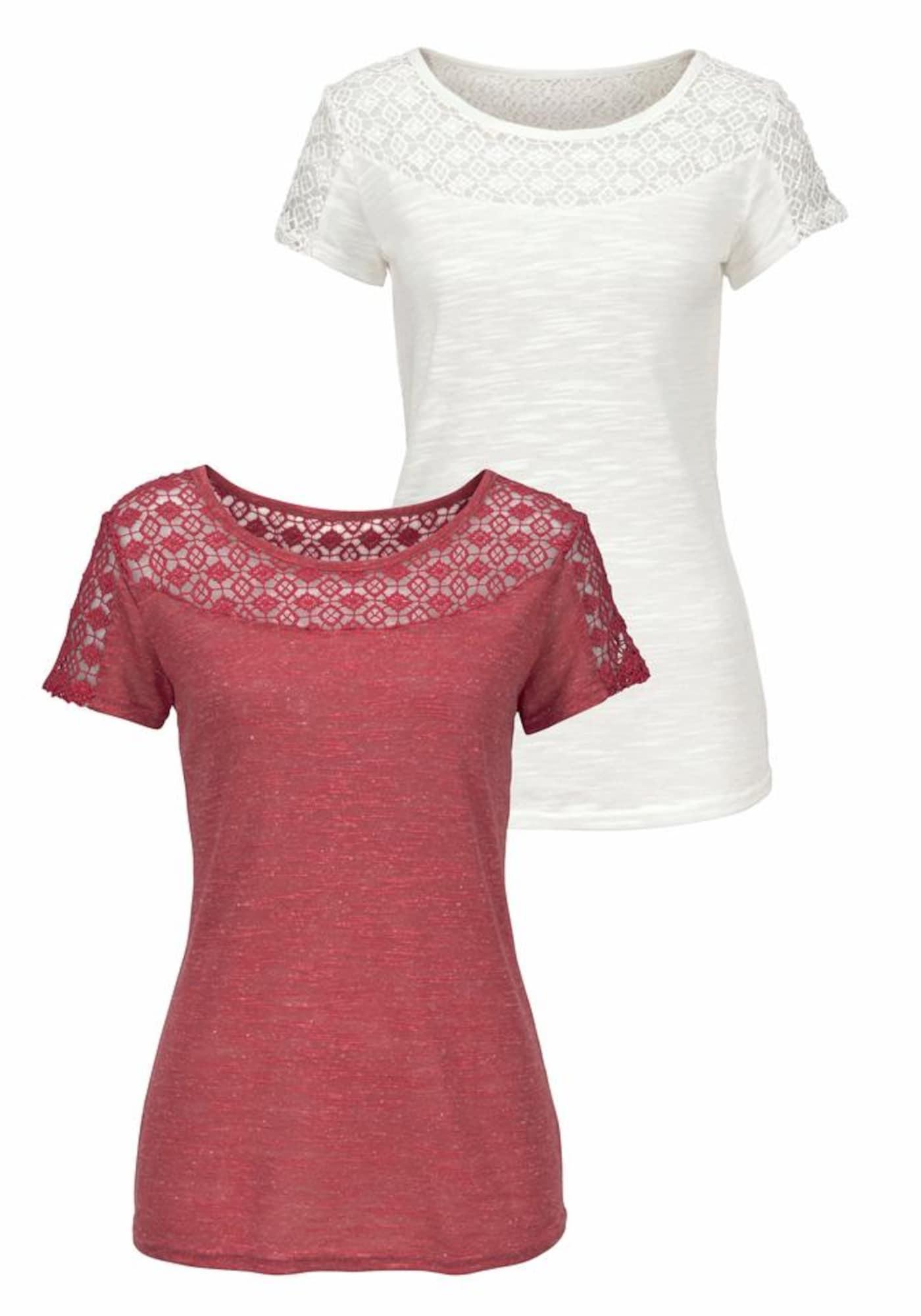 VIVANCE Marškinėliai kremo / rūdžių raudona