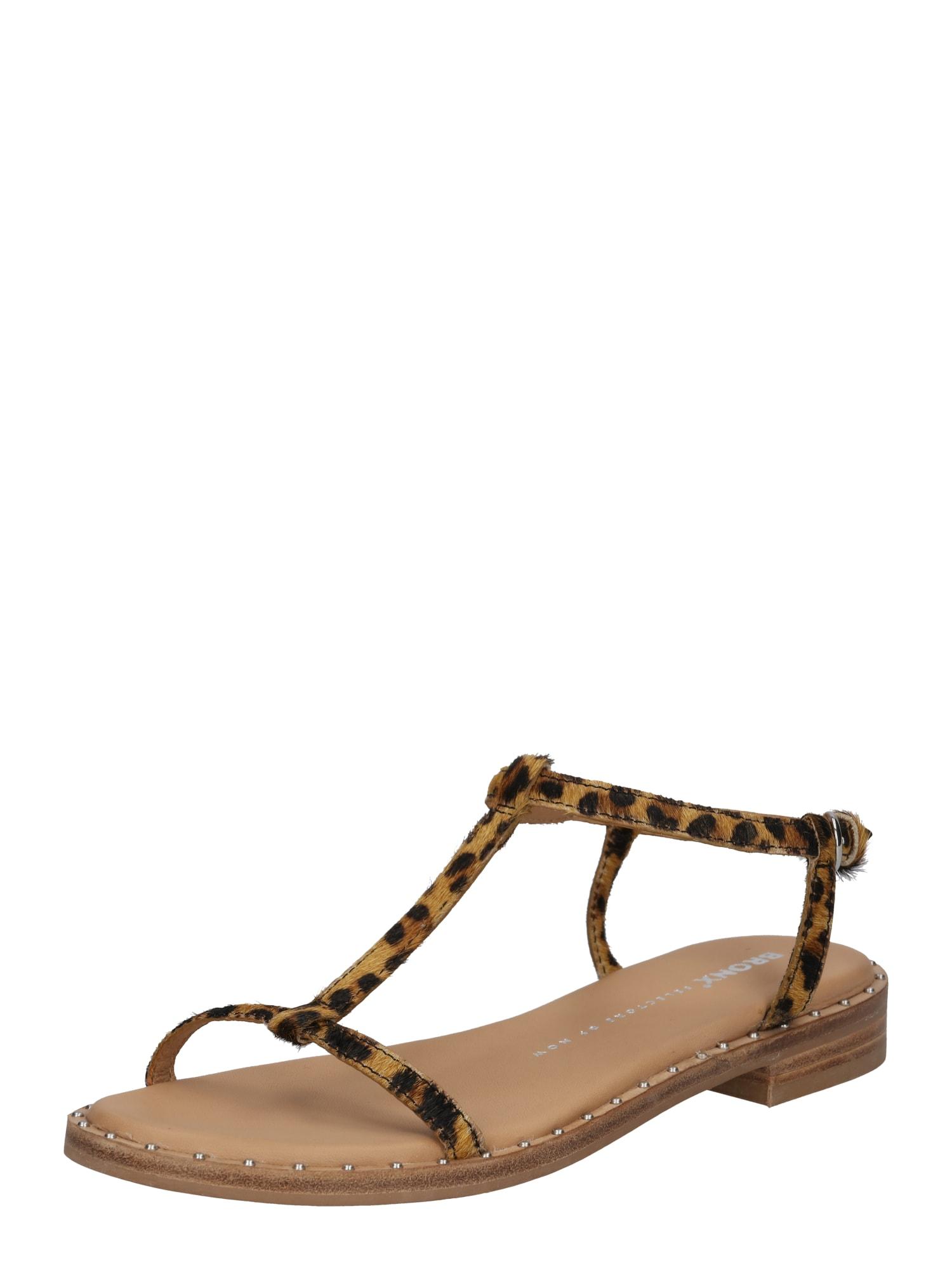 Páskové sandály béžová hnědá černá BRONX