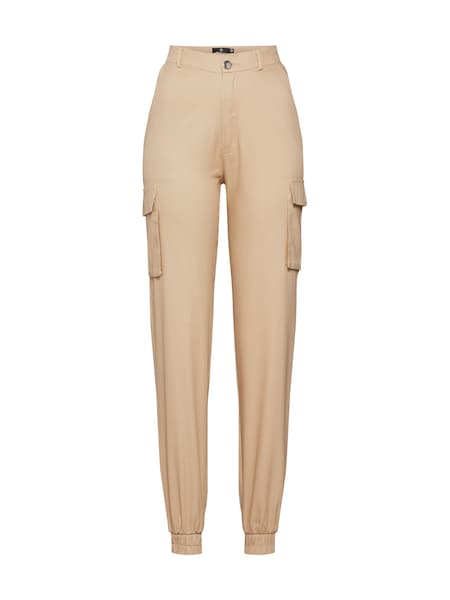 Hosen für Frauen - Missguided Hose 'PLAIN CARGO TROUSER' sand  - Onlineshop ABOUT YOU