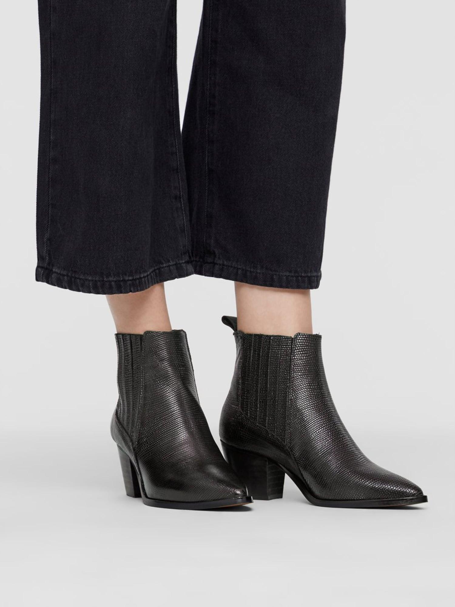 Bianco, Damen Chelsea boots ALMA, zwart / zwart gemêleerd