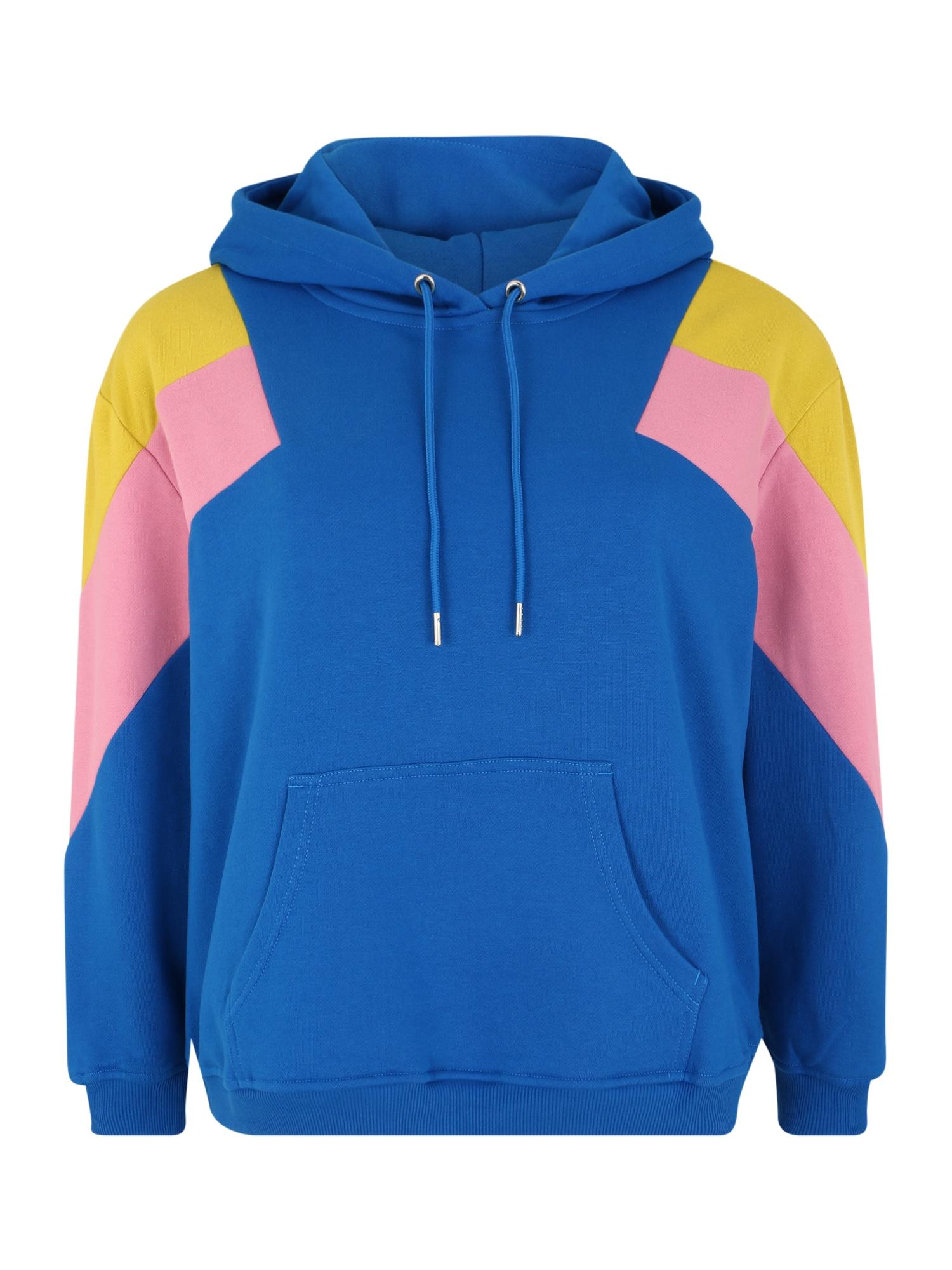 Urban Classics Curvy Megztinis be užsegimo geltona / rožių spalva / mėlyna