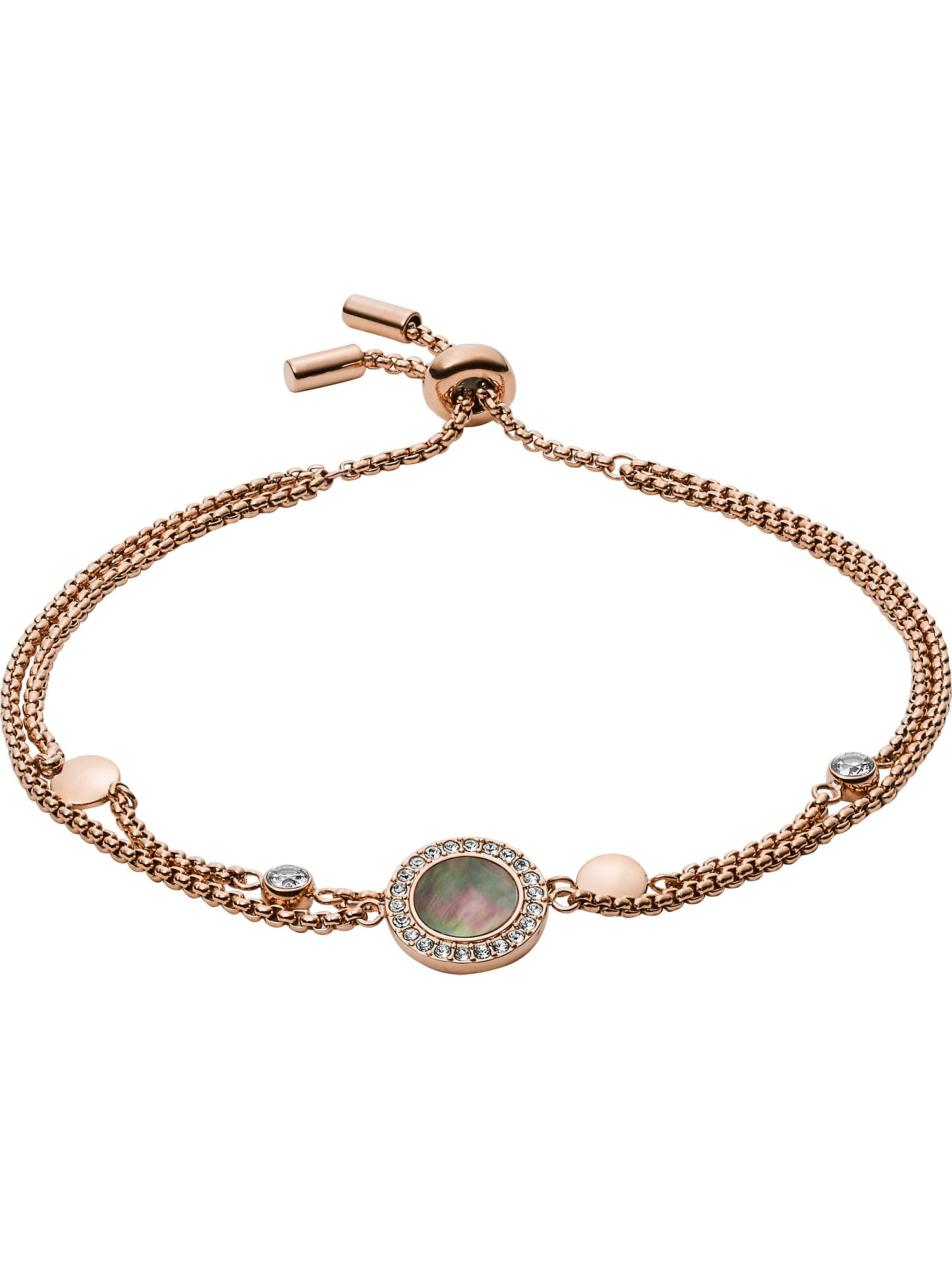 FOSSIL Apyrankė rožinio aukso spalva