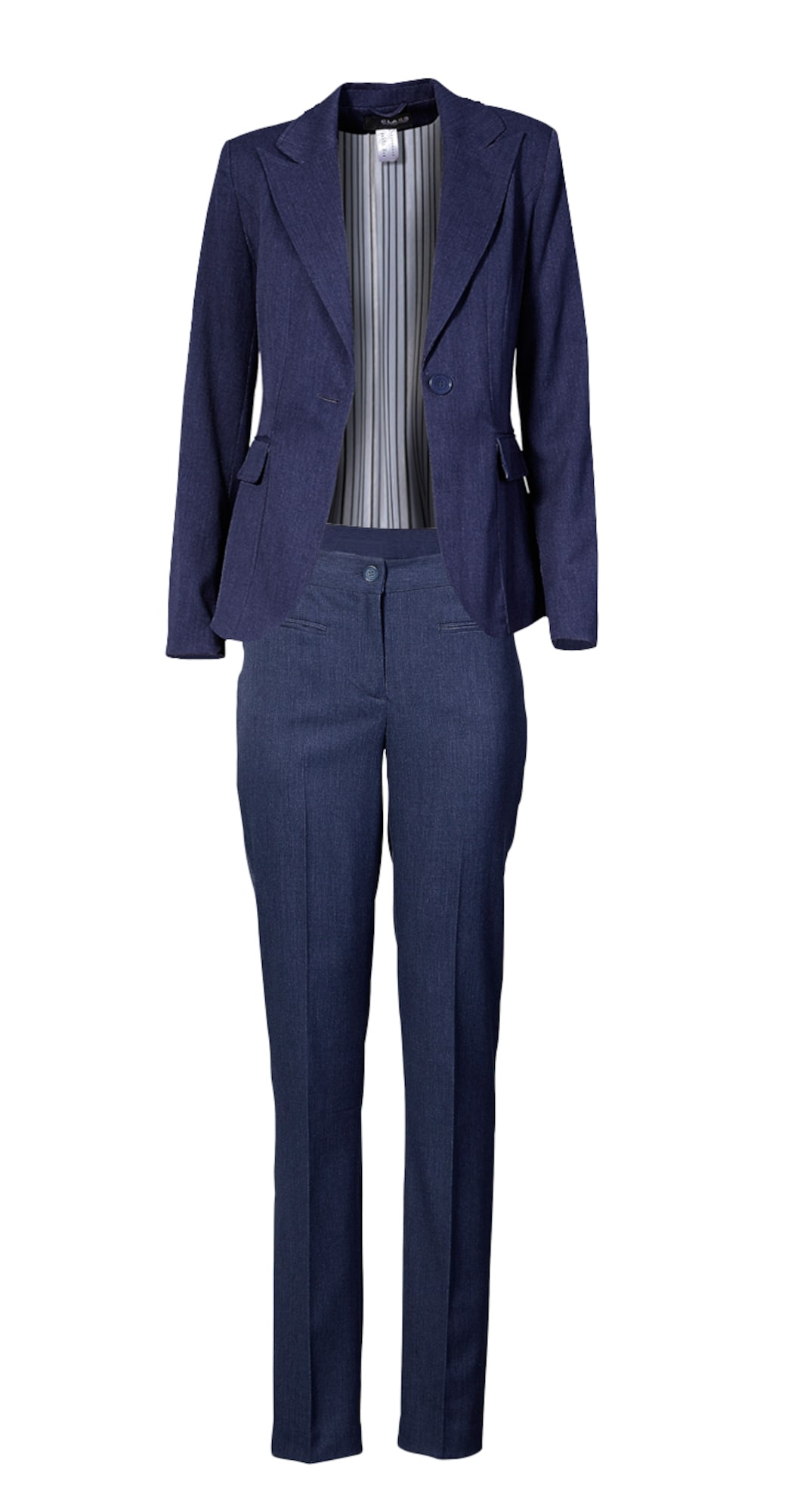heine Moteriškas kostiumėlis su kelnėmis tamsiai mėlyna jūros spalva