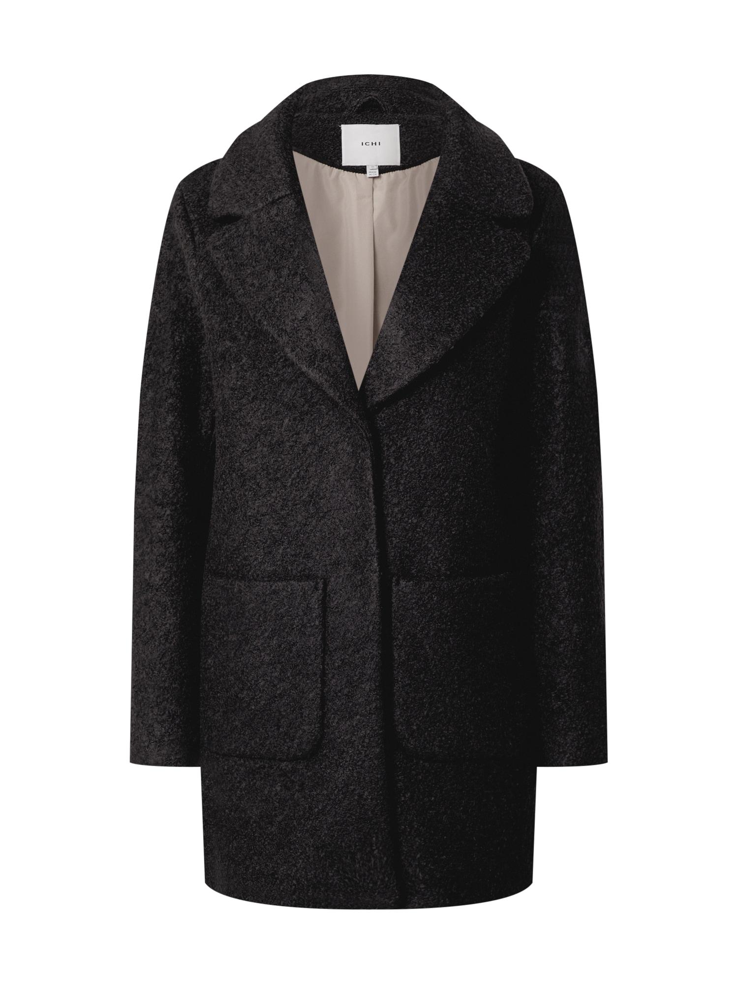 ICHI Demisezoninis paltas juoda