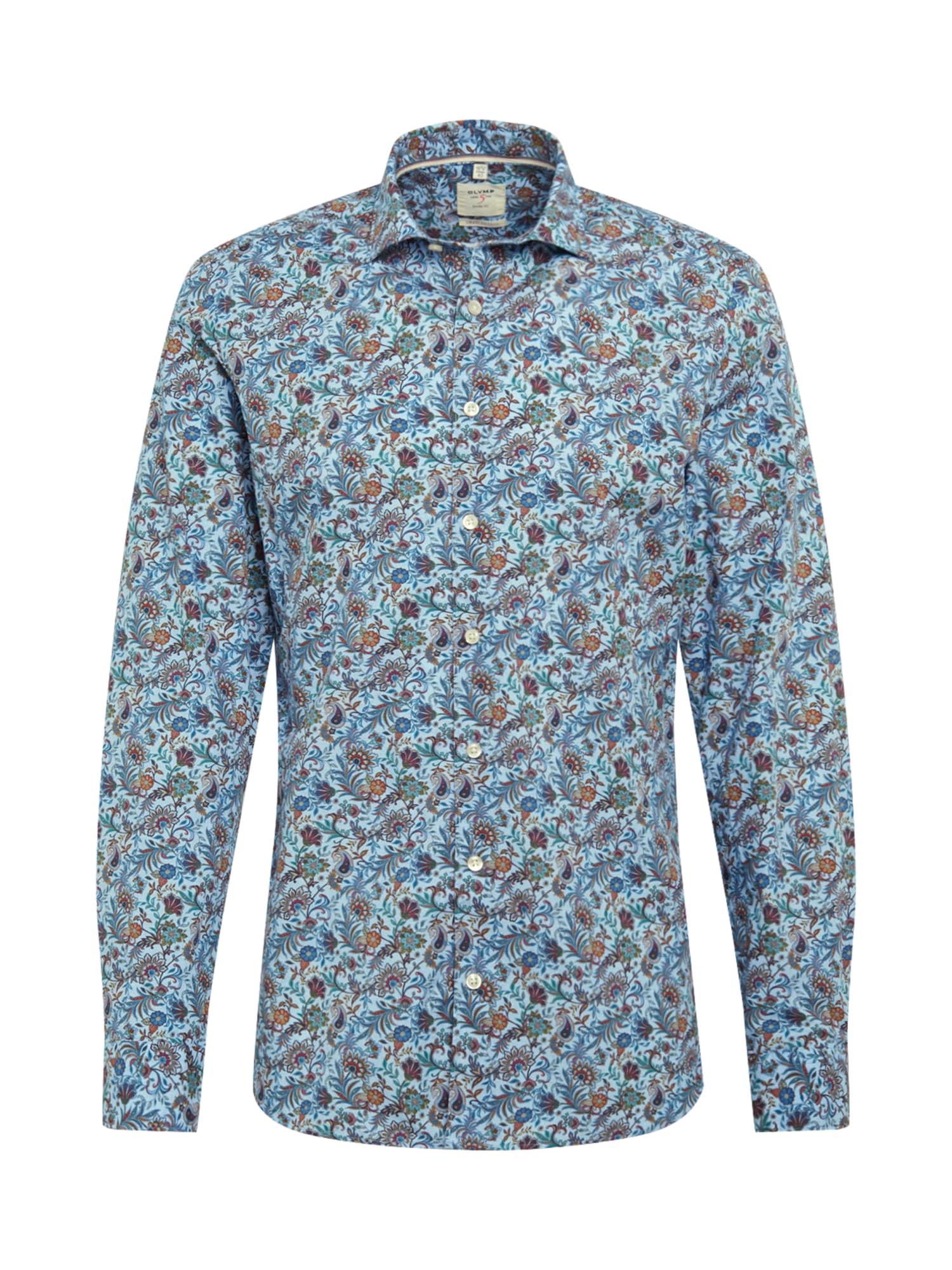 OLYMP Marškiniai mėlyna / mišrios spalvos