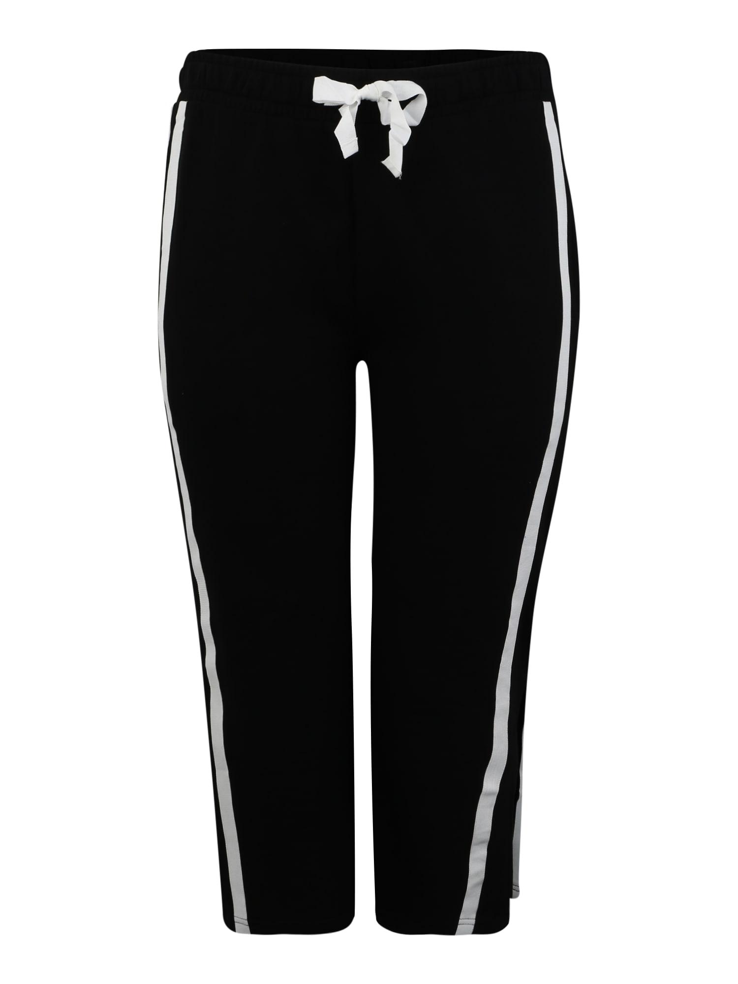 Urban Classics Curvy Kelnės juoda / balta