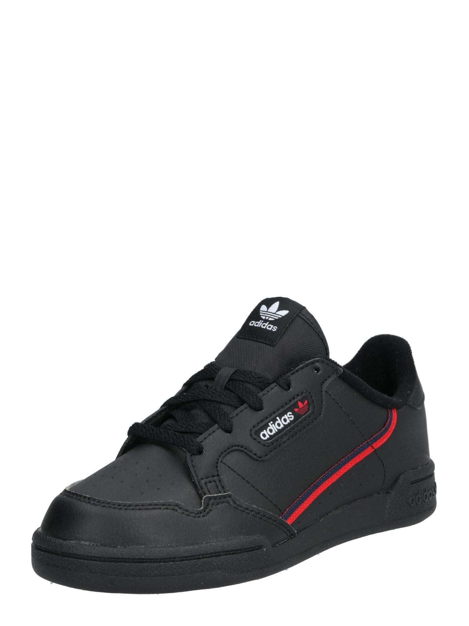 ADIDAS ORIGINALS Sportbačiai 'Continental 80' juoda / raudona