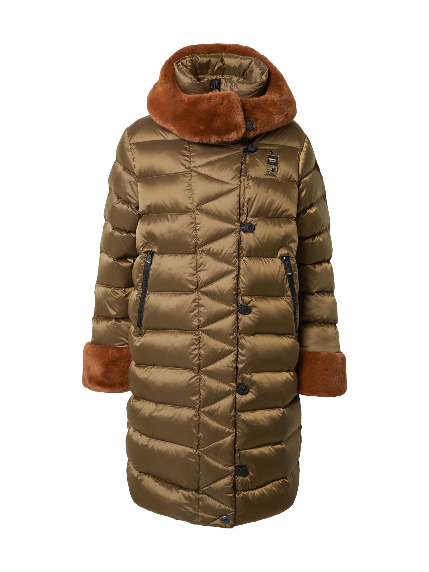 Blauer.USA Demisezoninis paltas žalia