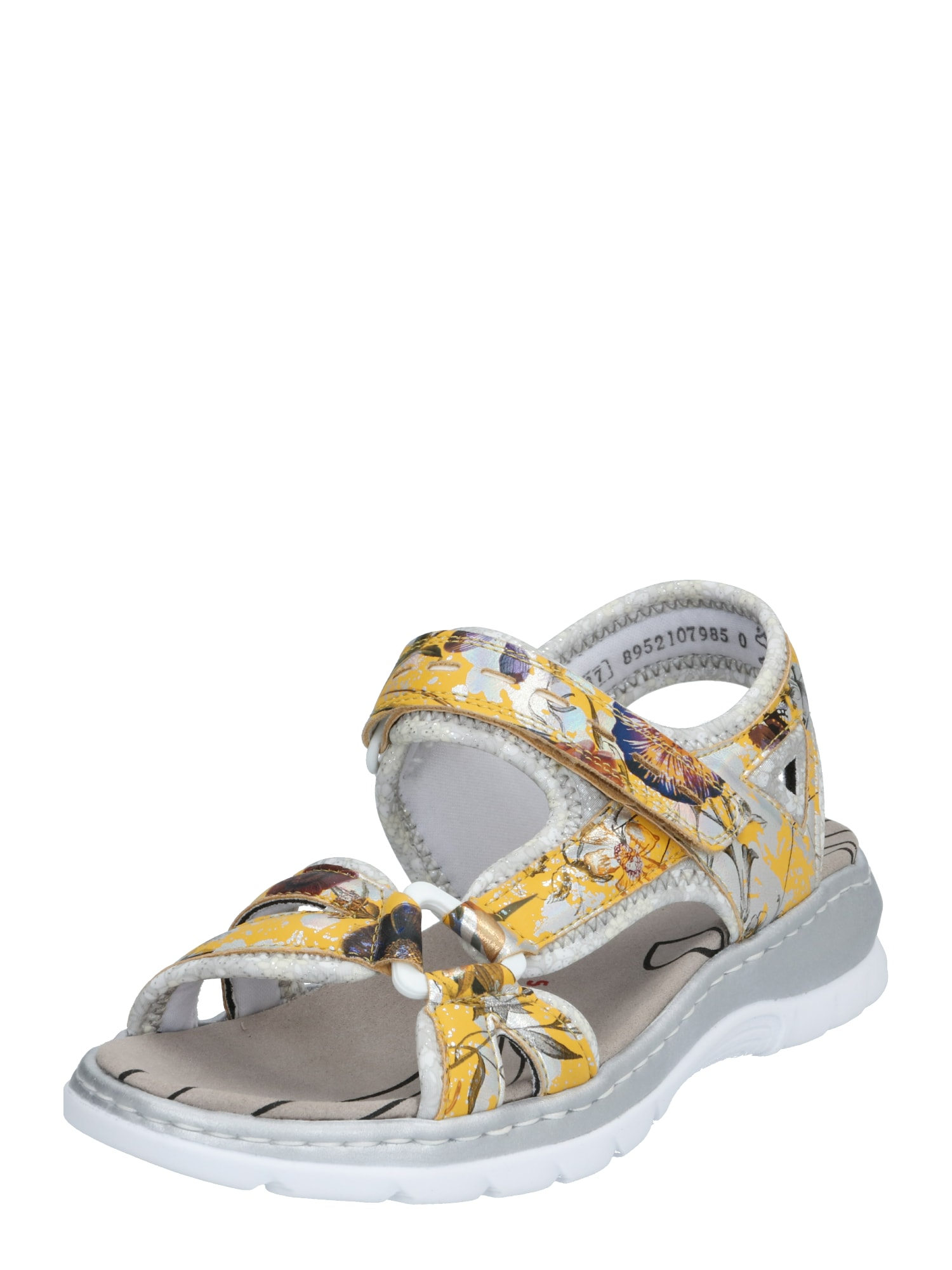 RIEKER Sandalai geltona / mišrios spalvos