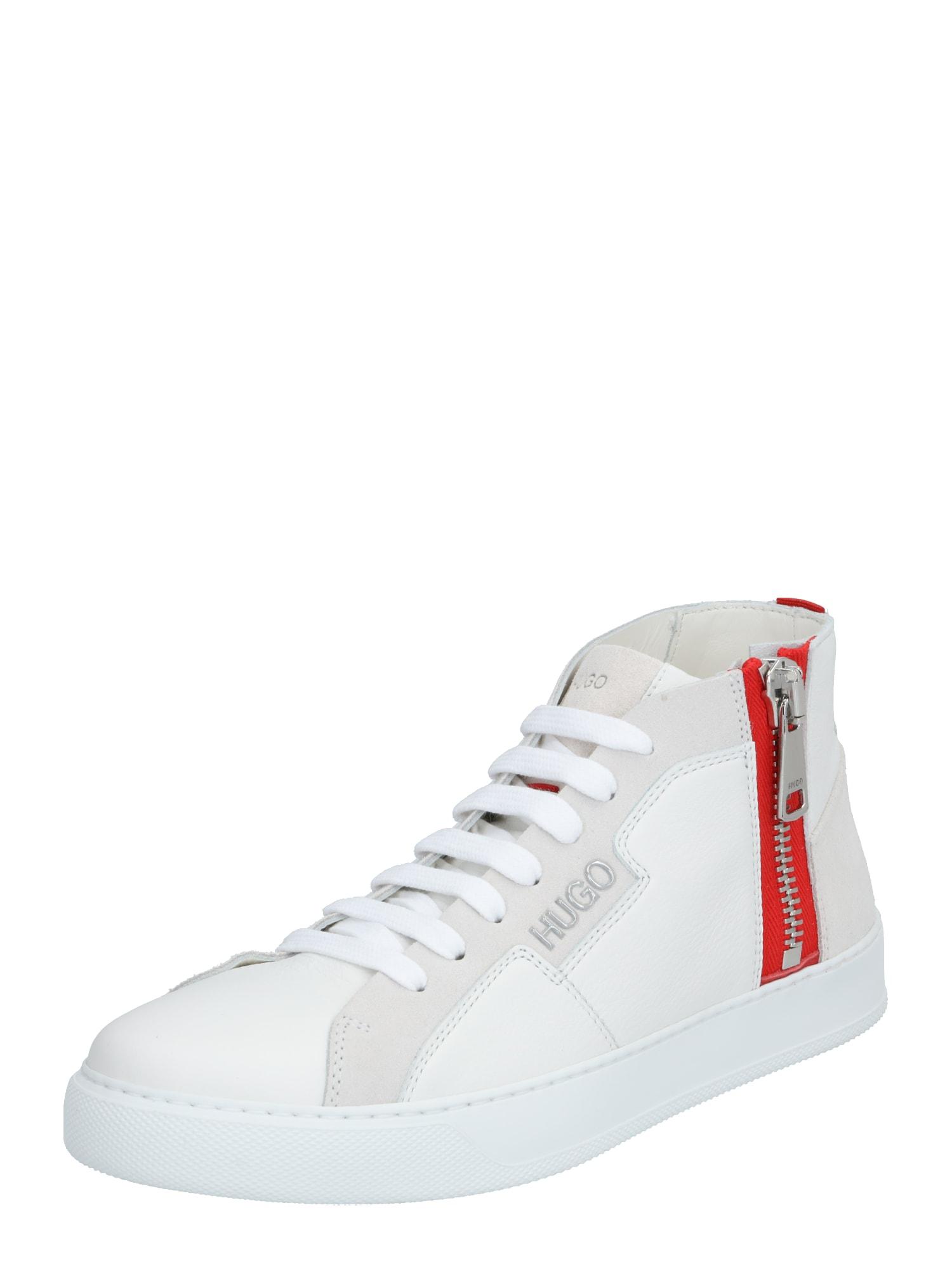 HUGO Sportbačiai su auliuku raudona / balta