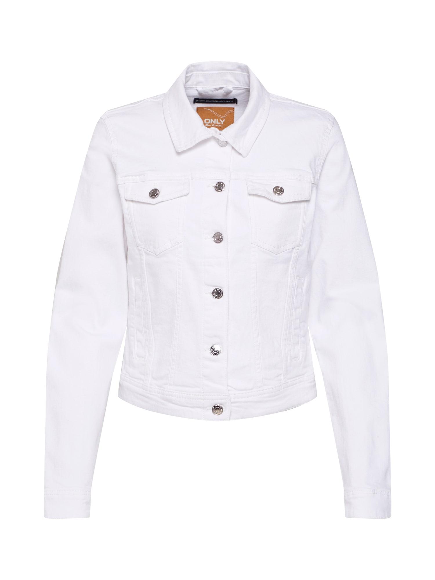 ONLY Demisezoninė striukė 'Tia' balto džinso spalva
