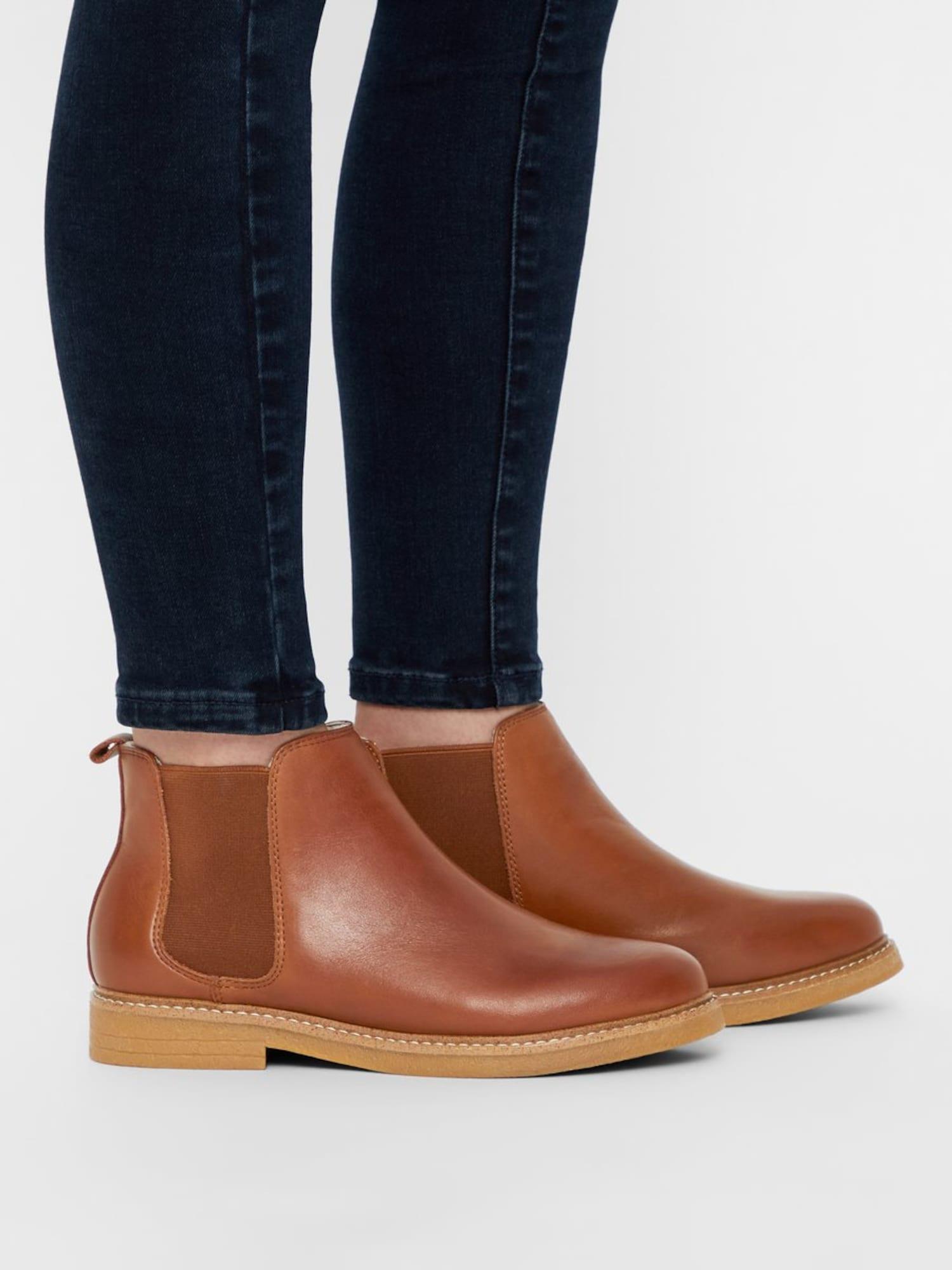 Bianco, Damen Chelsea boots AGNES, bruin / brons