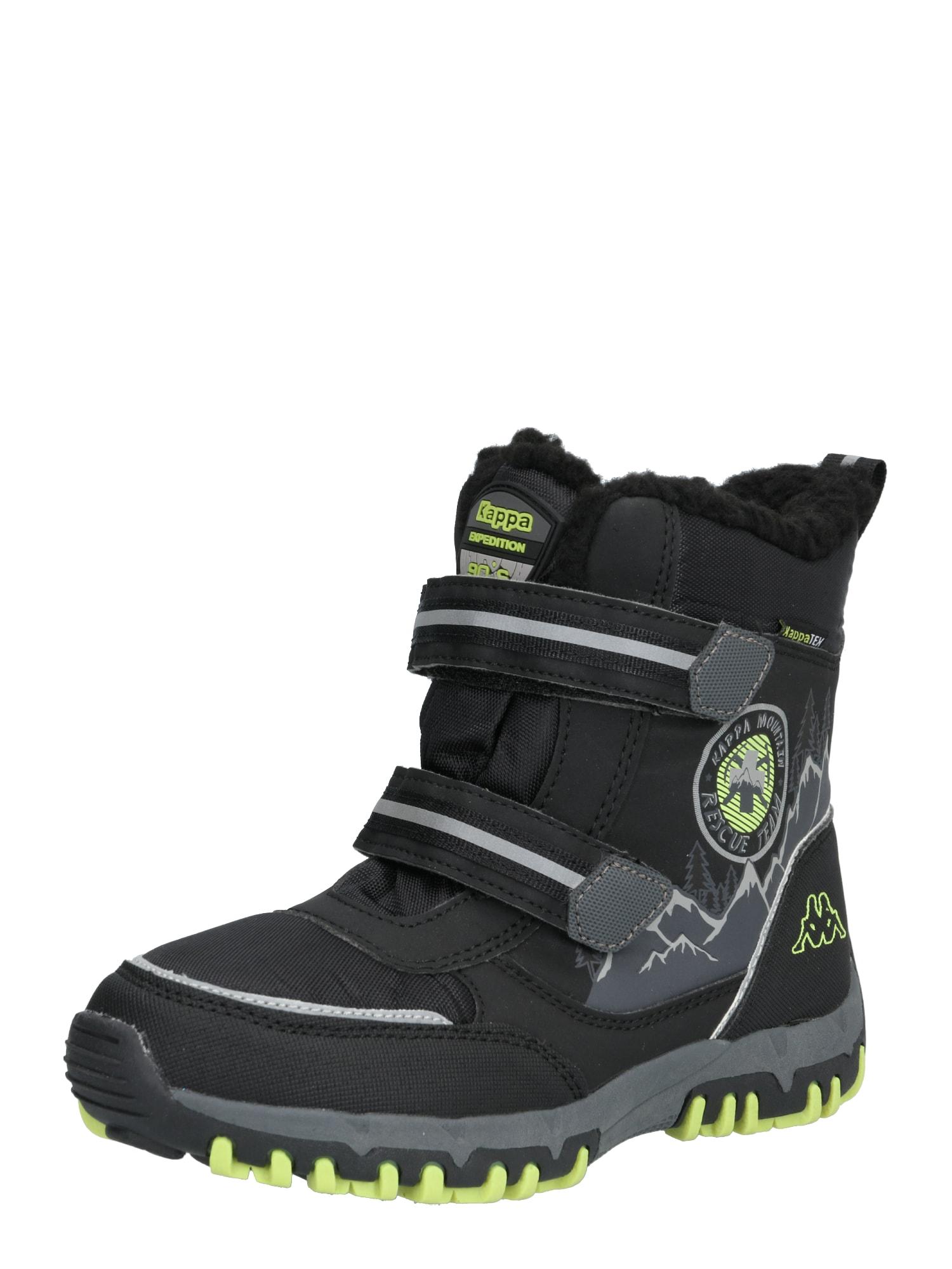 KAPPA Auliniai batai su kulniuku 'RESCUE TEX' juoda / žalia