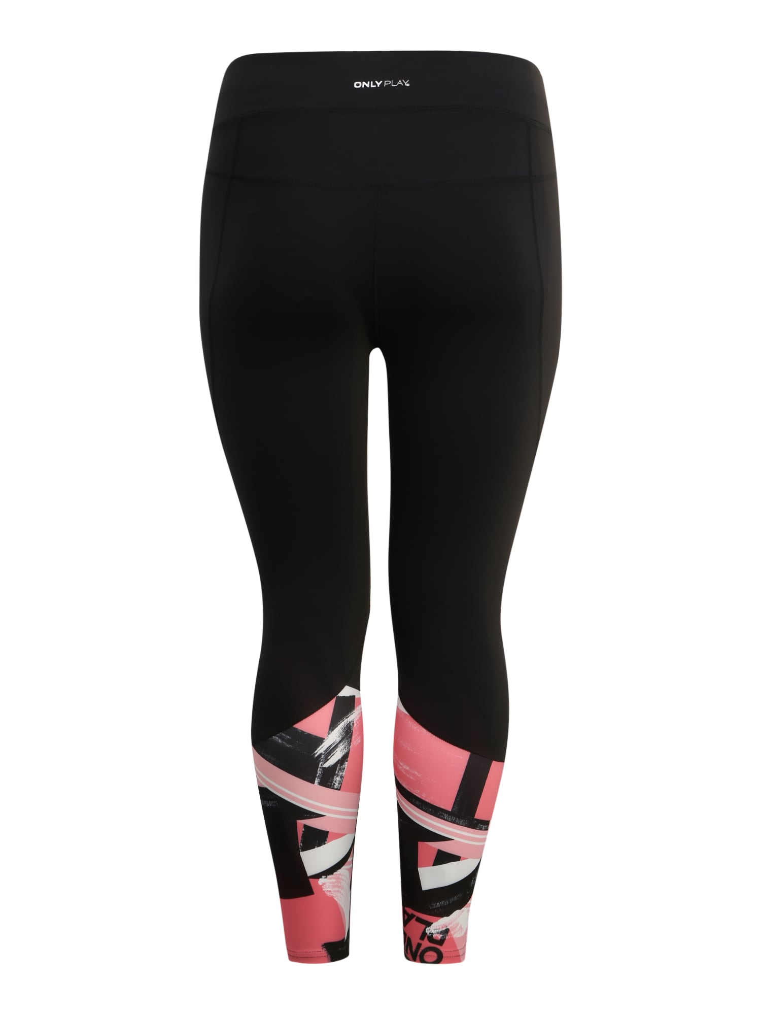 Only Play Curvy Sportbyxa 'ONPMINALIS AOP 7/8 TRAINING TIGHTS-CURVY'  svart