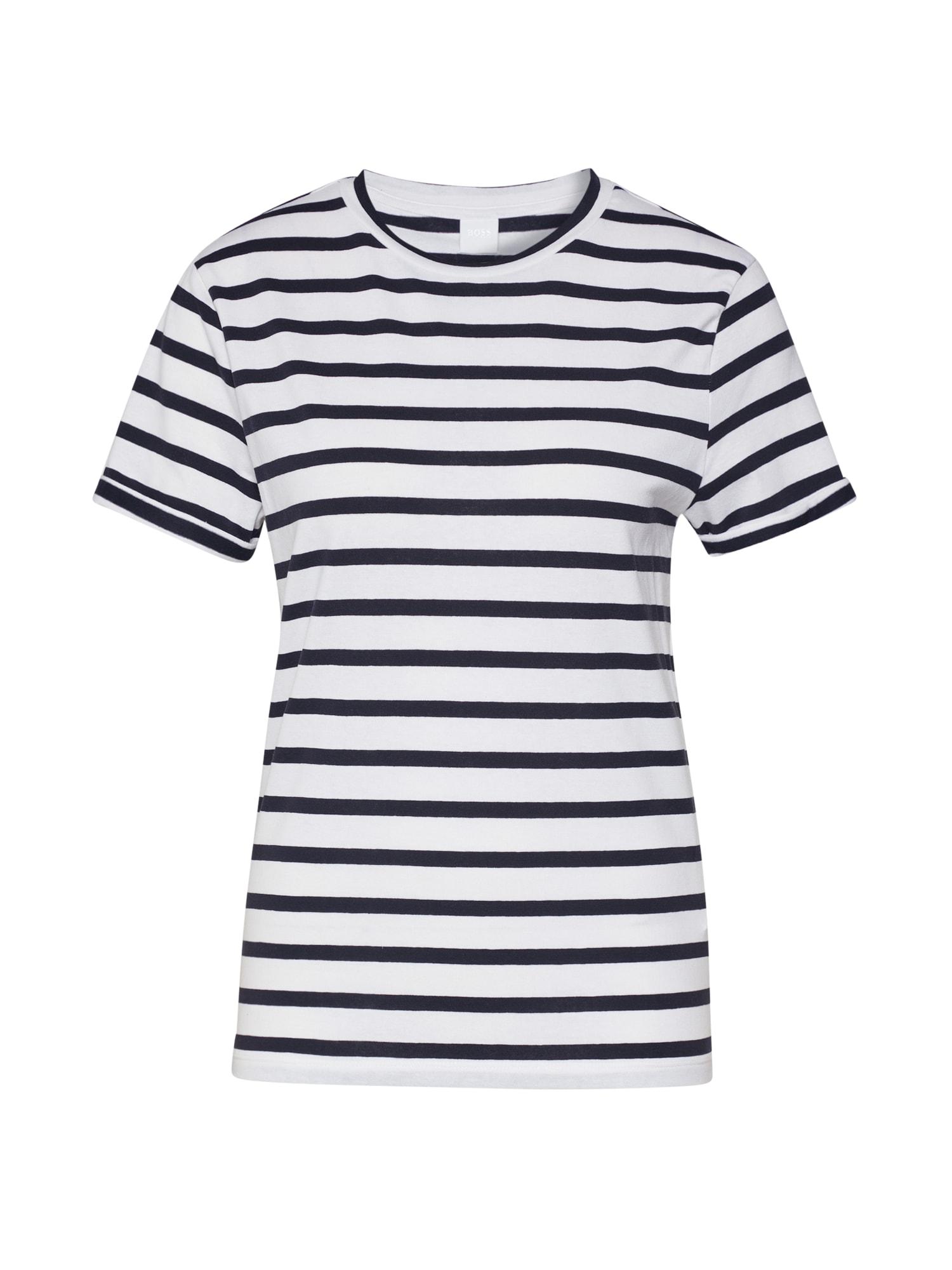 BOSS Marškinėliai 'Tespring' balta / mėlyna