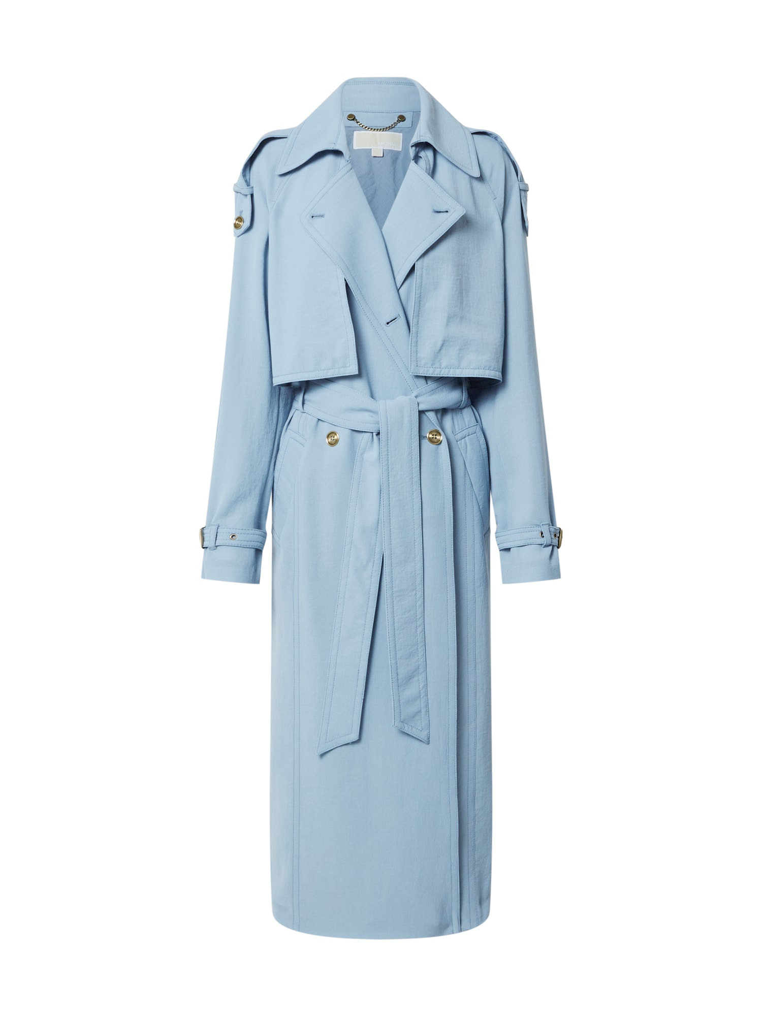 MICHAEL Michael Kors Demisezoninis paltas 'Crushed Poly' šviesiai mėlyna