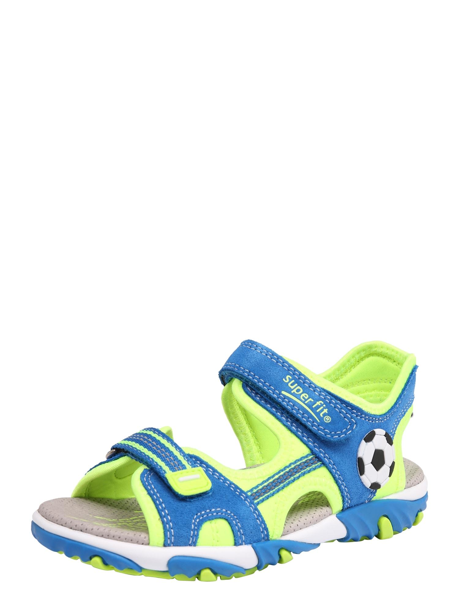 Otevřená obuv Mike 2 modrá svítivě zelená SUPERFIT