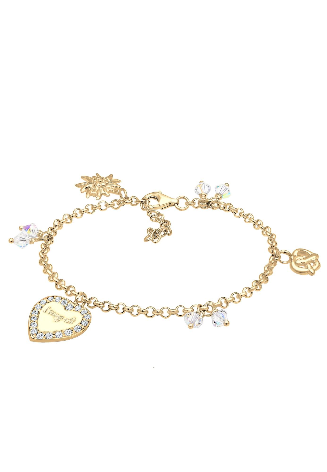 Armband 'Bettelarmband, Brezel, Edelweiss, Herz, Wiesn' | Schmuck > Armbänder > Bettelarmbänder | ELLI
