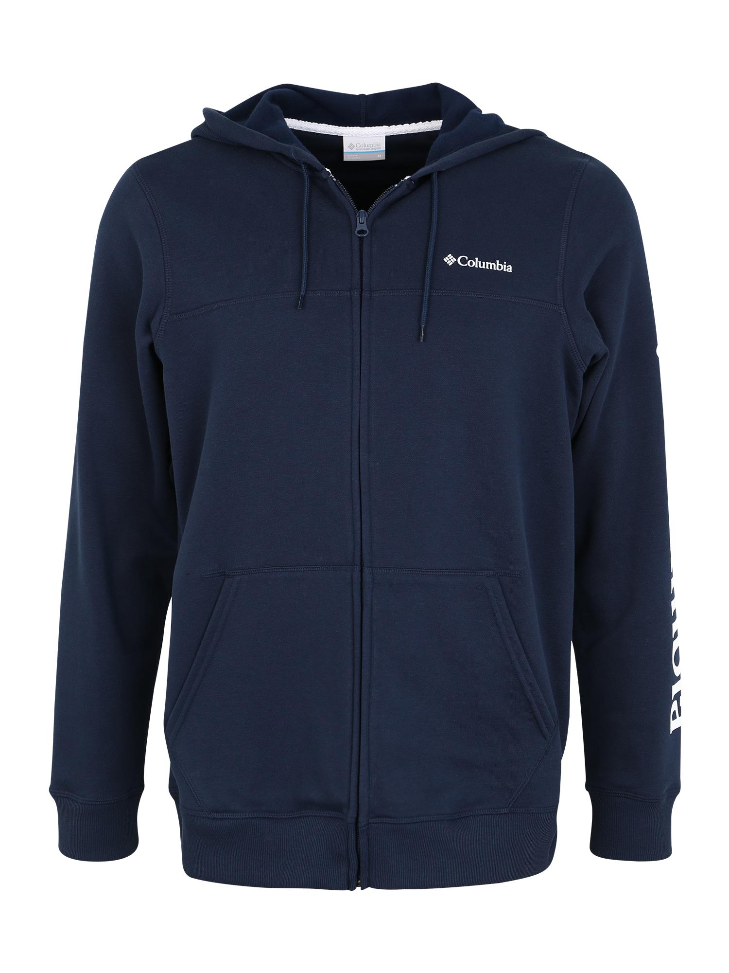 COLUMBIA Sportinis džemperis tamsiai mėlyna / balta