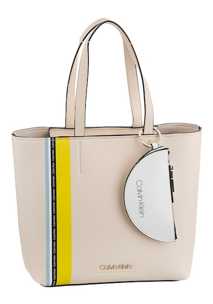 Shopper für Frauen - Calvin Klein Shopper 'Must' nude pastellblau limone weiß  - Onlineshop ABOUT YOU