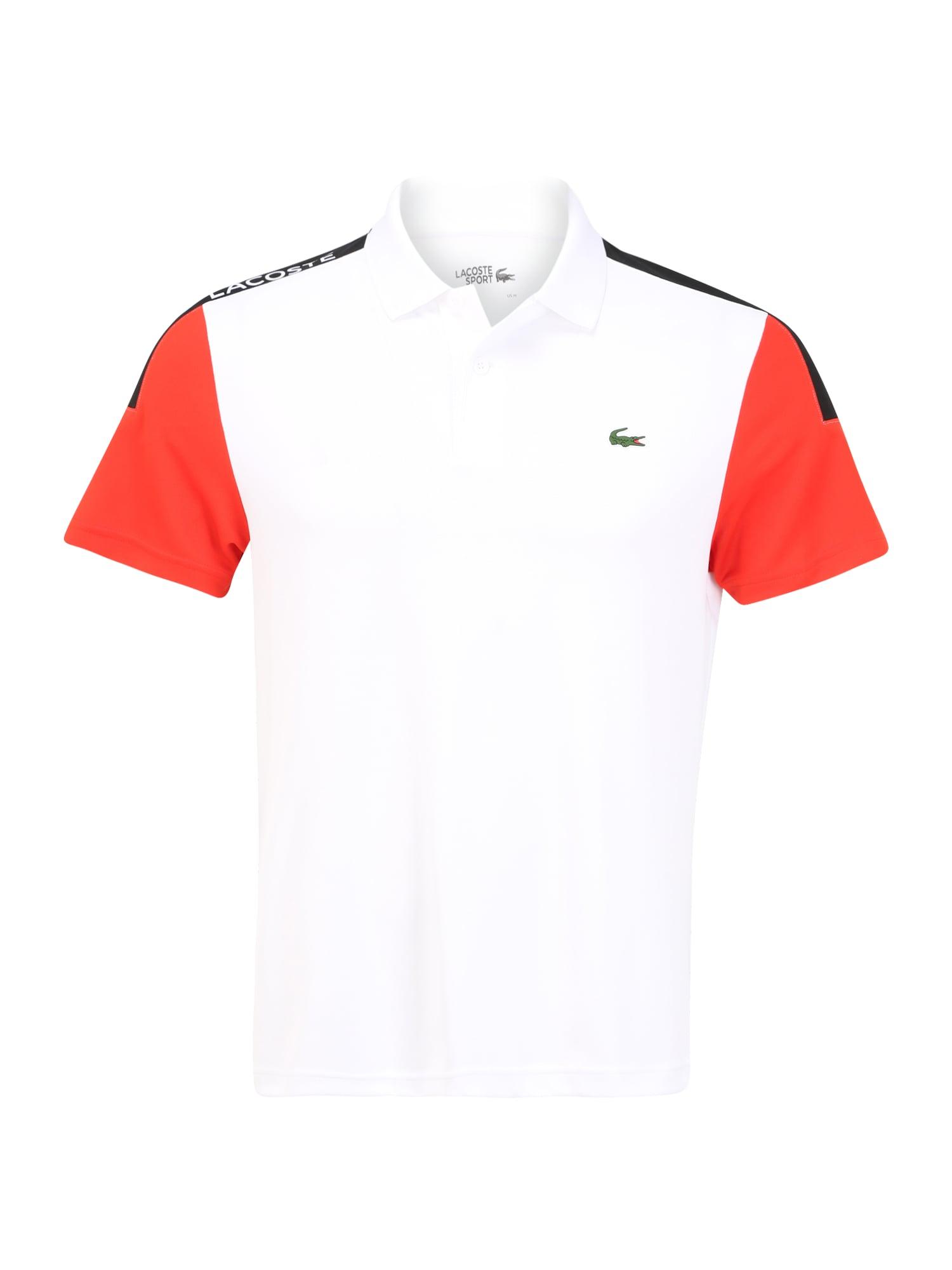 Lacoste Sport Sportiniai marškinėliai balta / tamsiai mėlyna / raudona