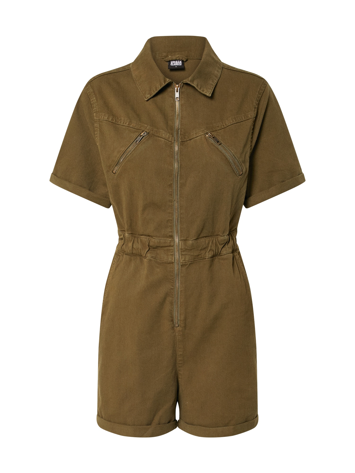 Urban Classics Overal 'Ladies Short Boiler Suit'  olivová